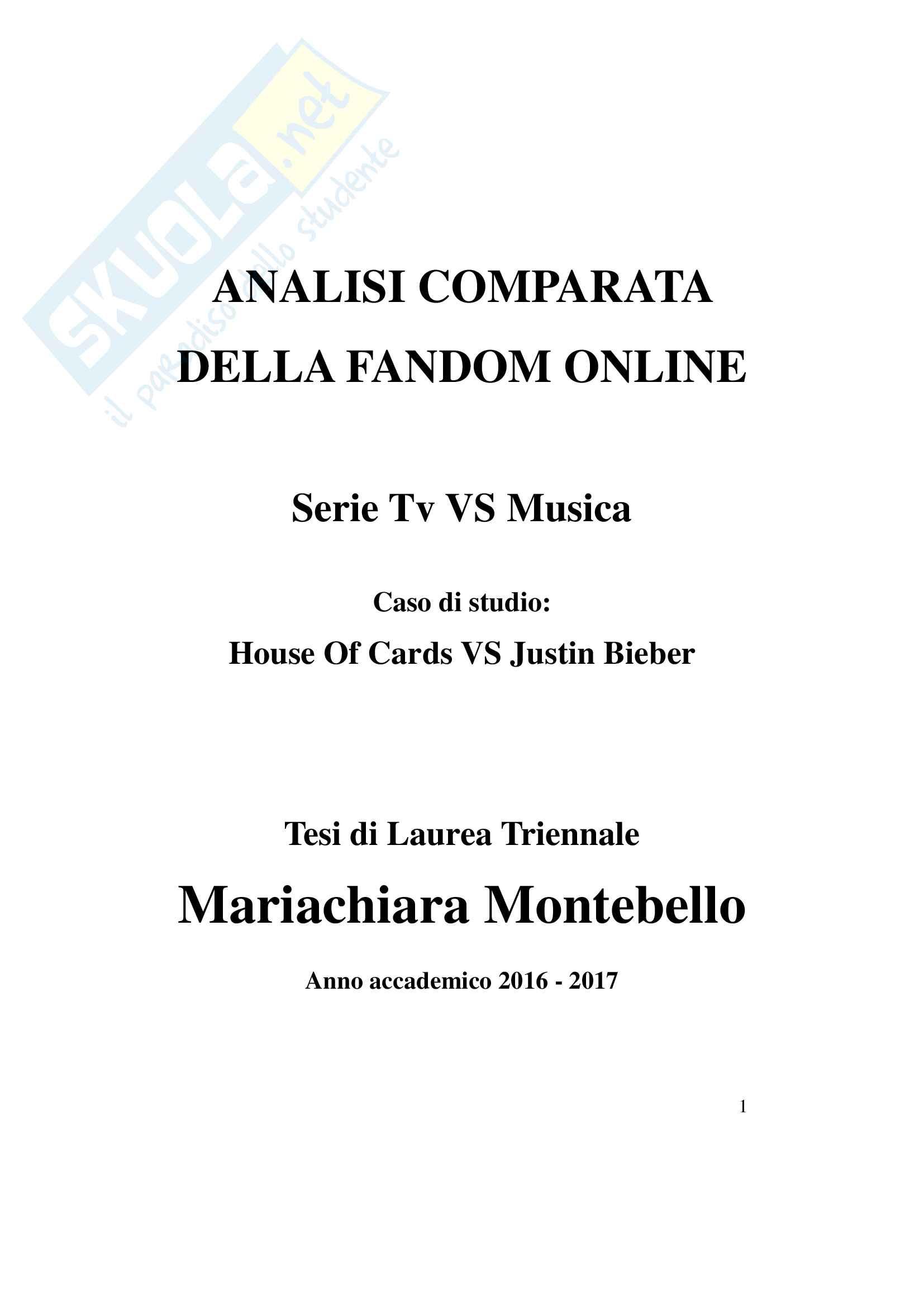 Fandom! Serie tv vs musica: House Of Cards vs Justin Bieber