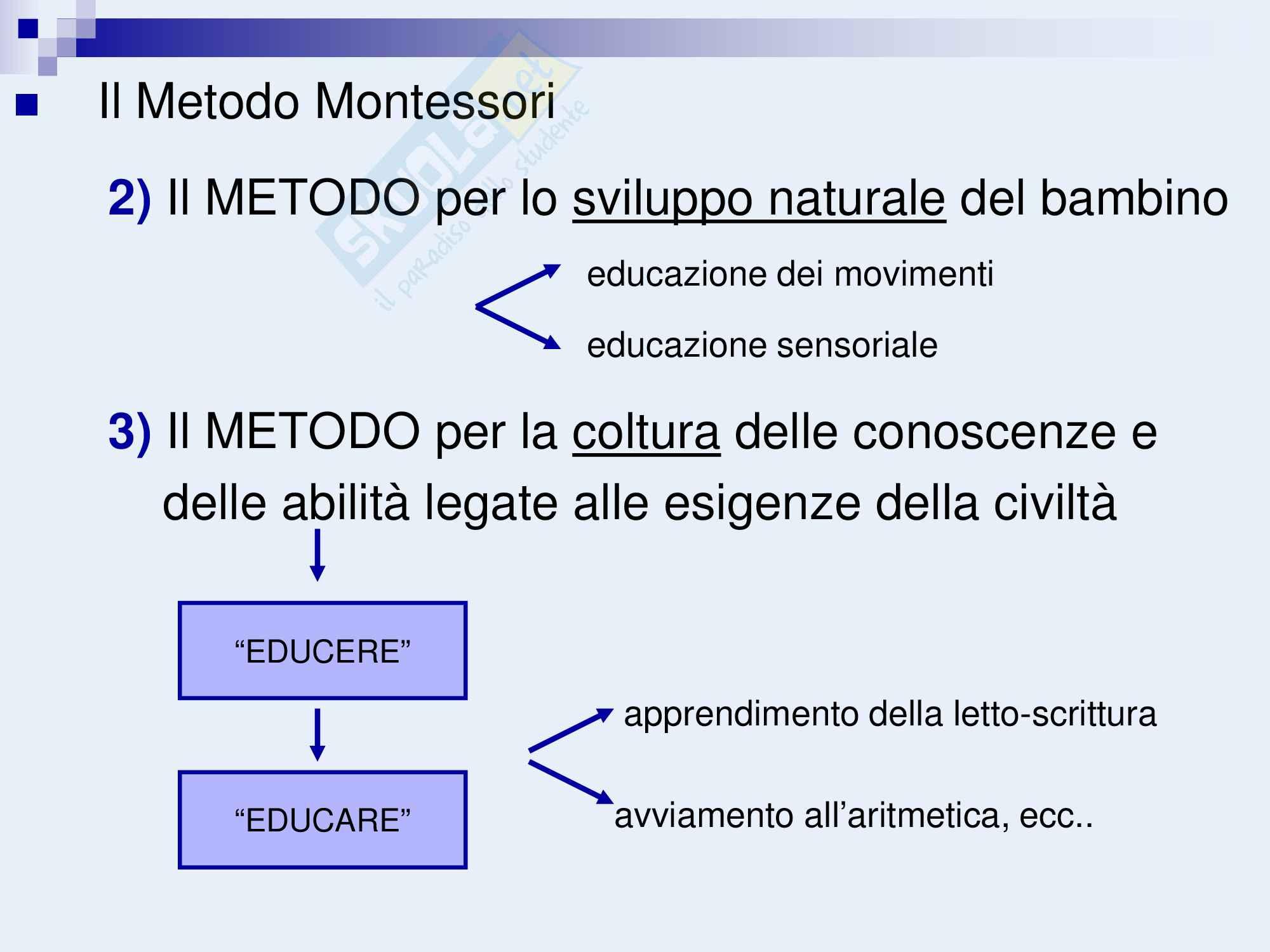 Metodo montessoriano, Maria Montessori Pag. 2