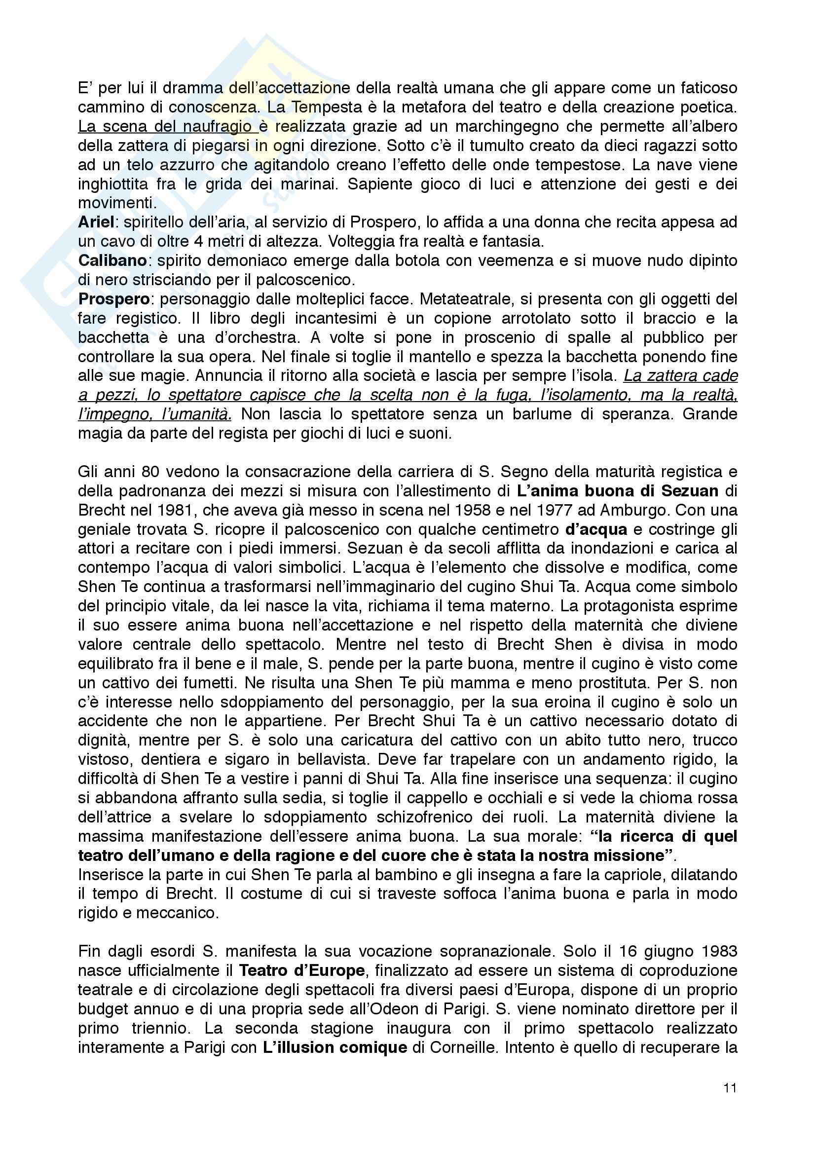 Riassunto esame Fondamenti di teatro, prof. Garavaglia, libro consigliato Teatro e spettacolo nella società multimediale, Garavaglia Pag. 11