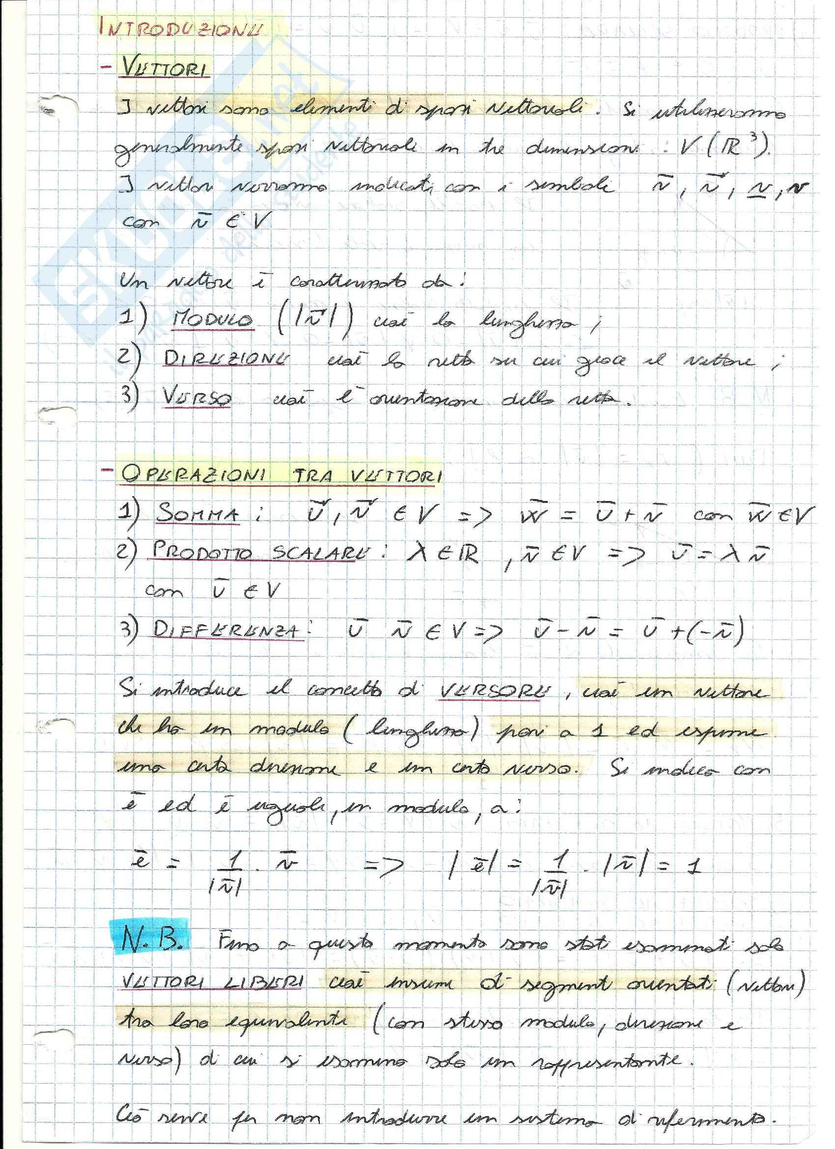 Teoria completa di Meccanica Razionale -Geometria delle masse, dinamica del corpo rigido-
