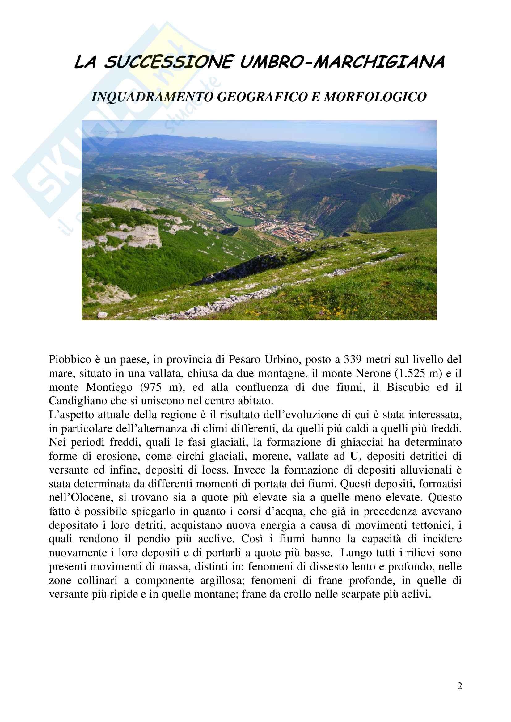 Relazione geologica e paleontologica di Piobbico Pag. 2