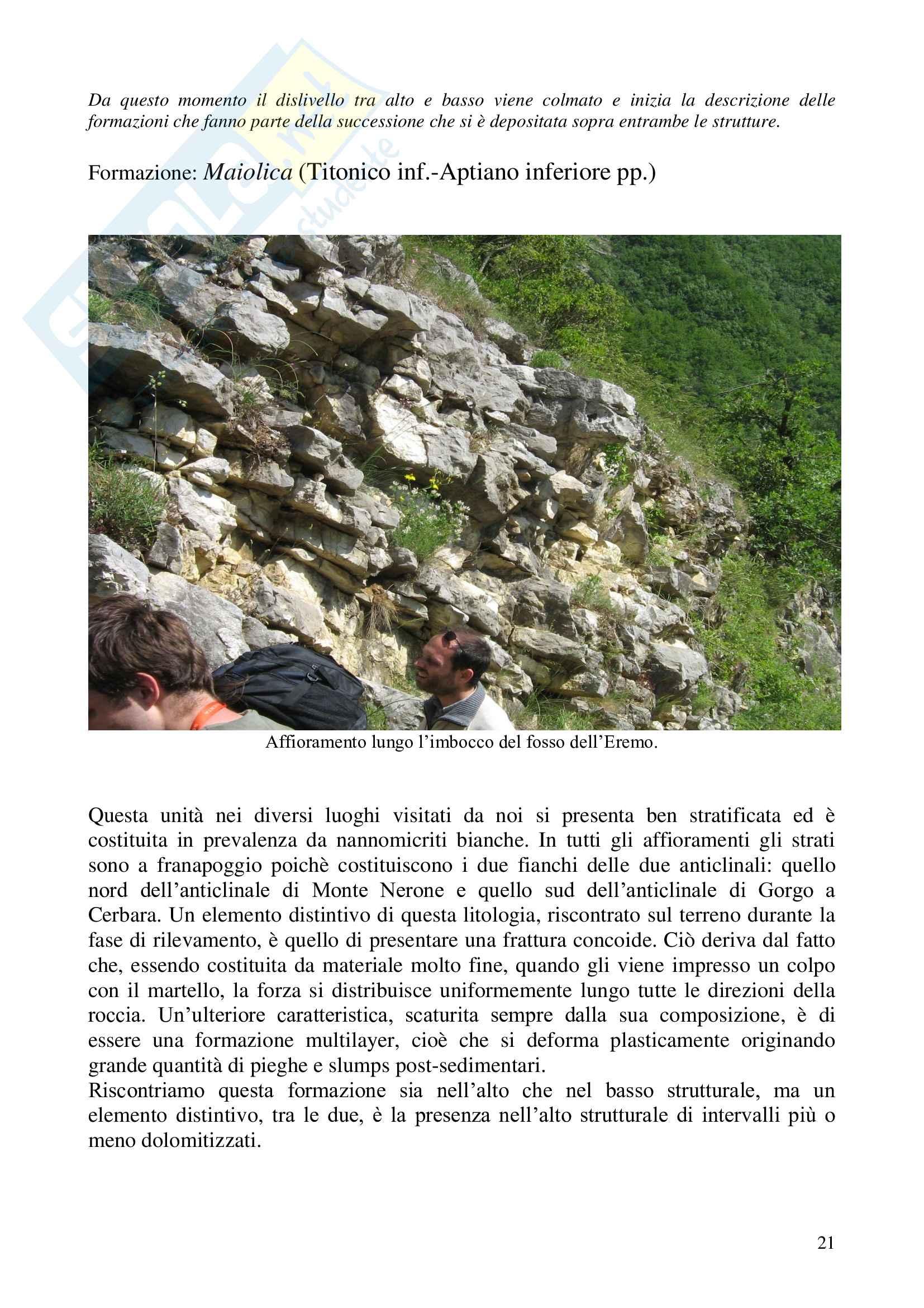 Relazione geologica e paleontologica di Piobbico Pag. 21