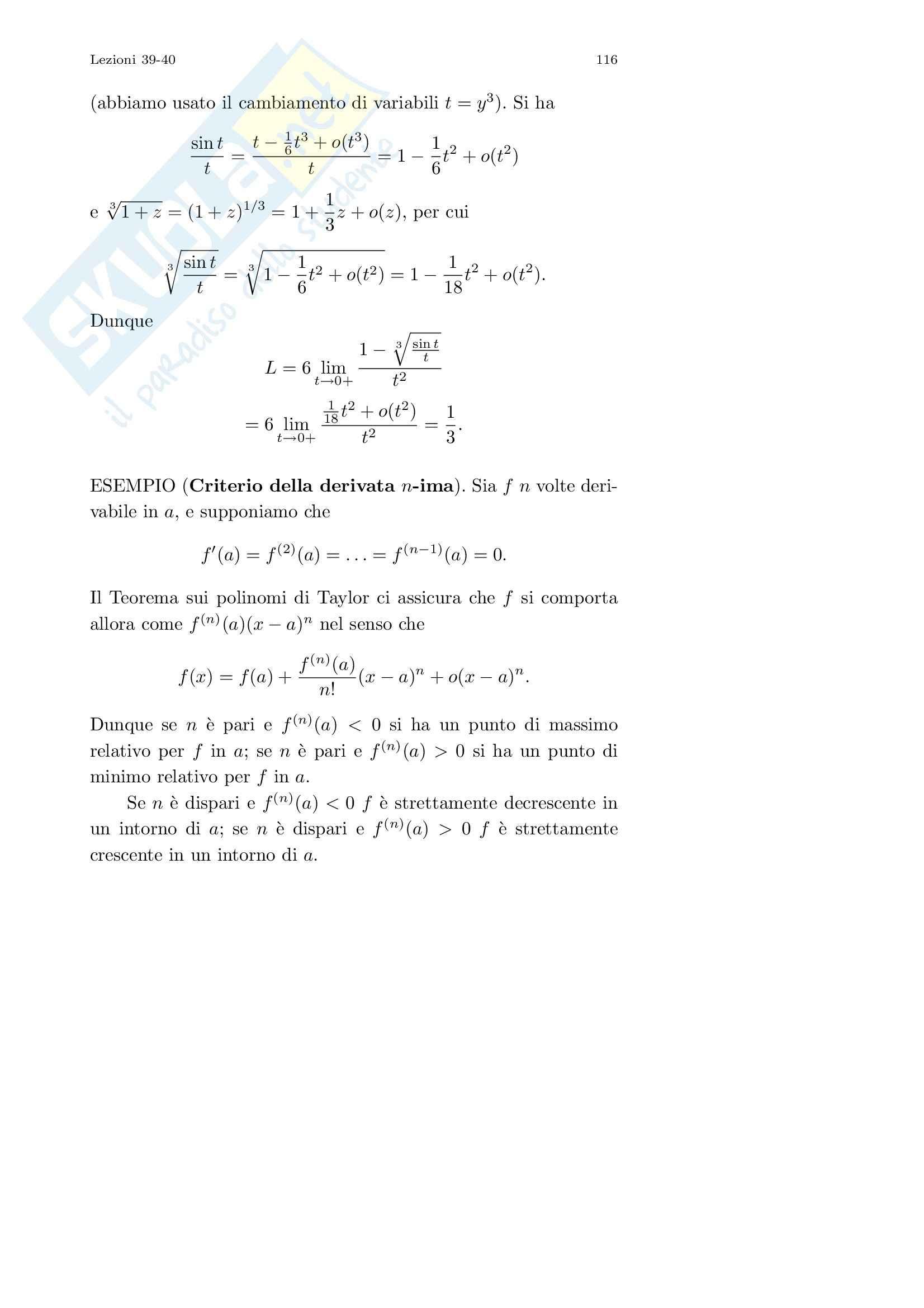 Analisi I – Corso completo Pag. 116