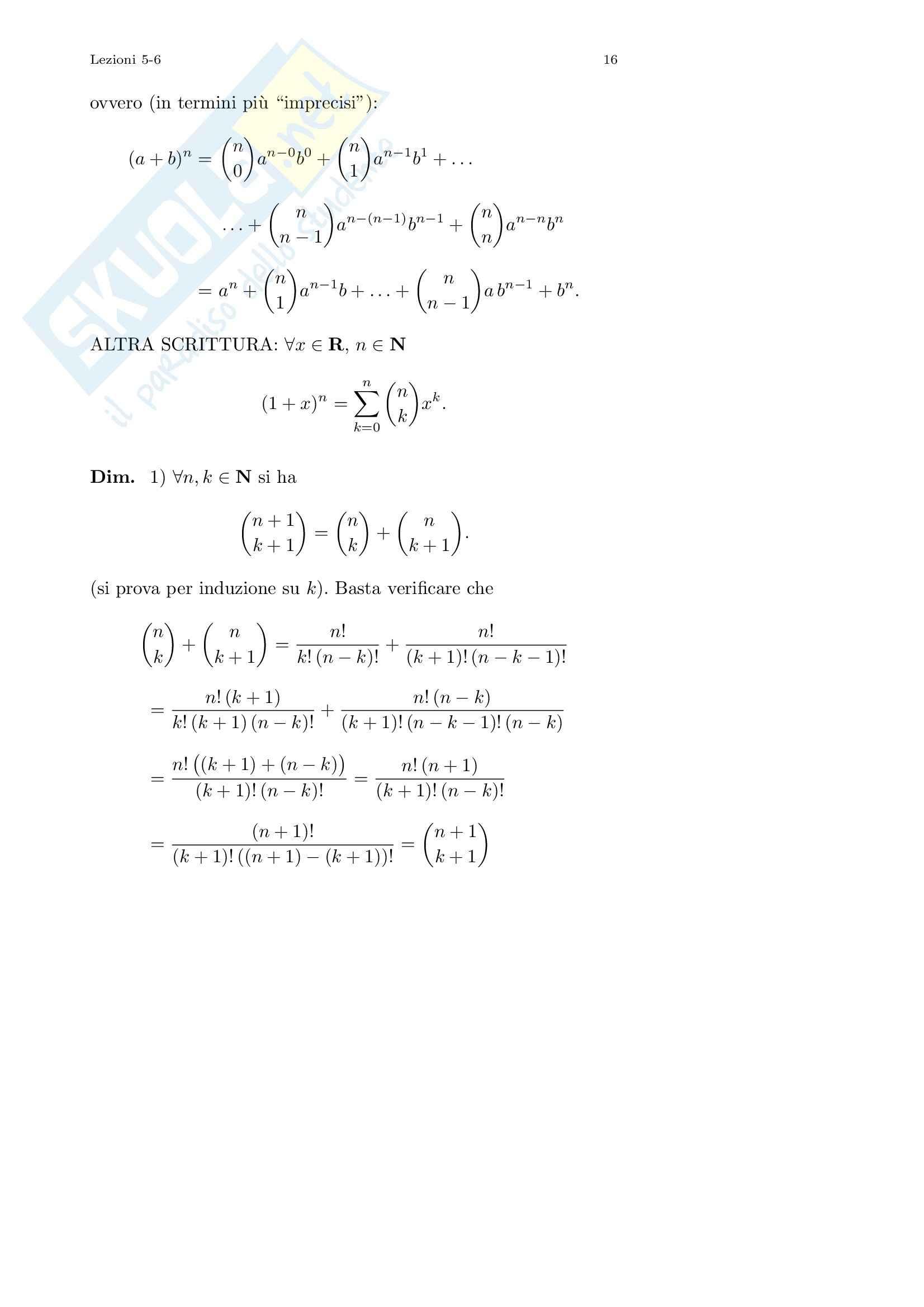 Analisi I – Corso completo Pag. 16