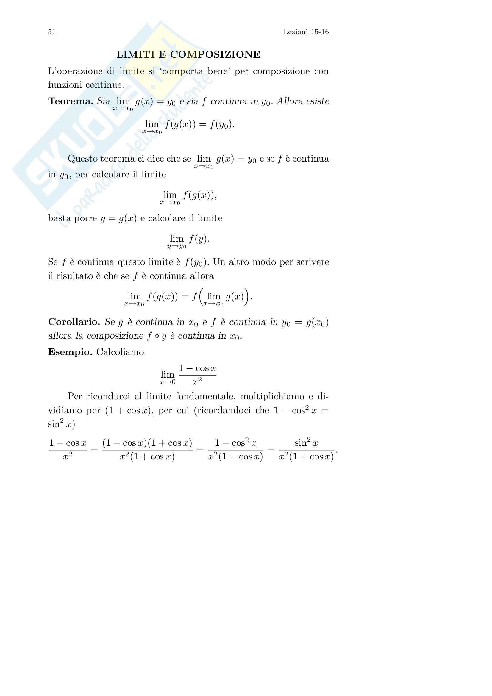 Analisi I – Corso completo Pag. 51