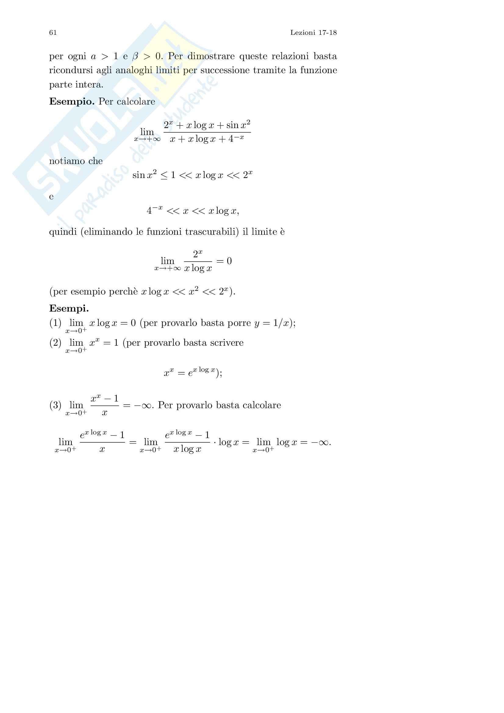 Analisi I – Corso completo Pag. 61
