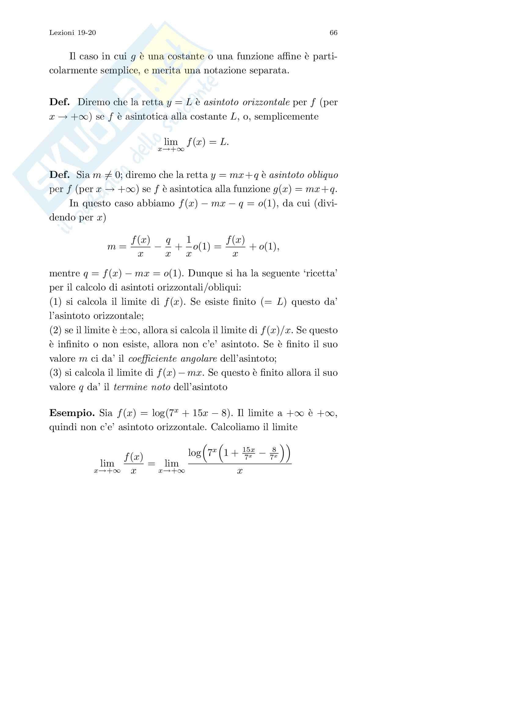 Analisi I – Corso completo Pag. 66