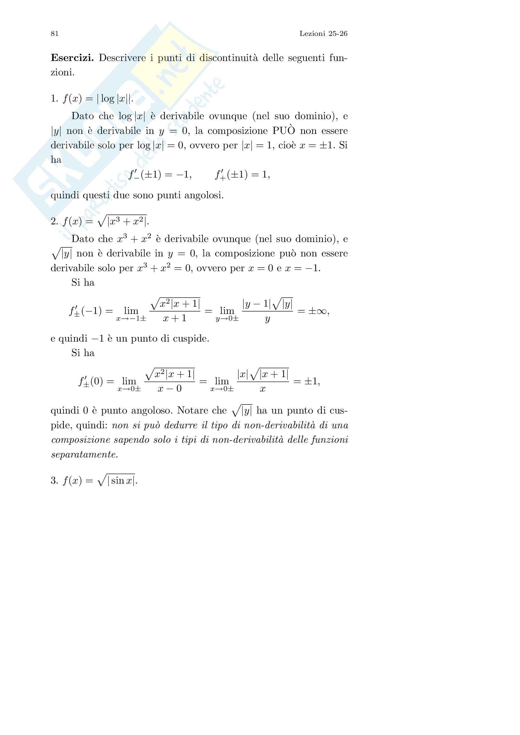 Analisi I – Corso completo Pag. 81