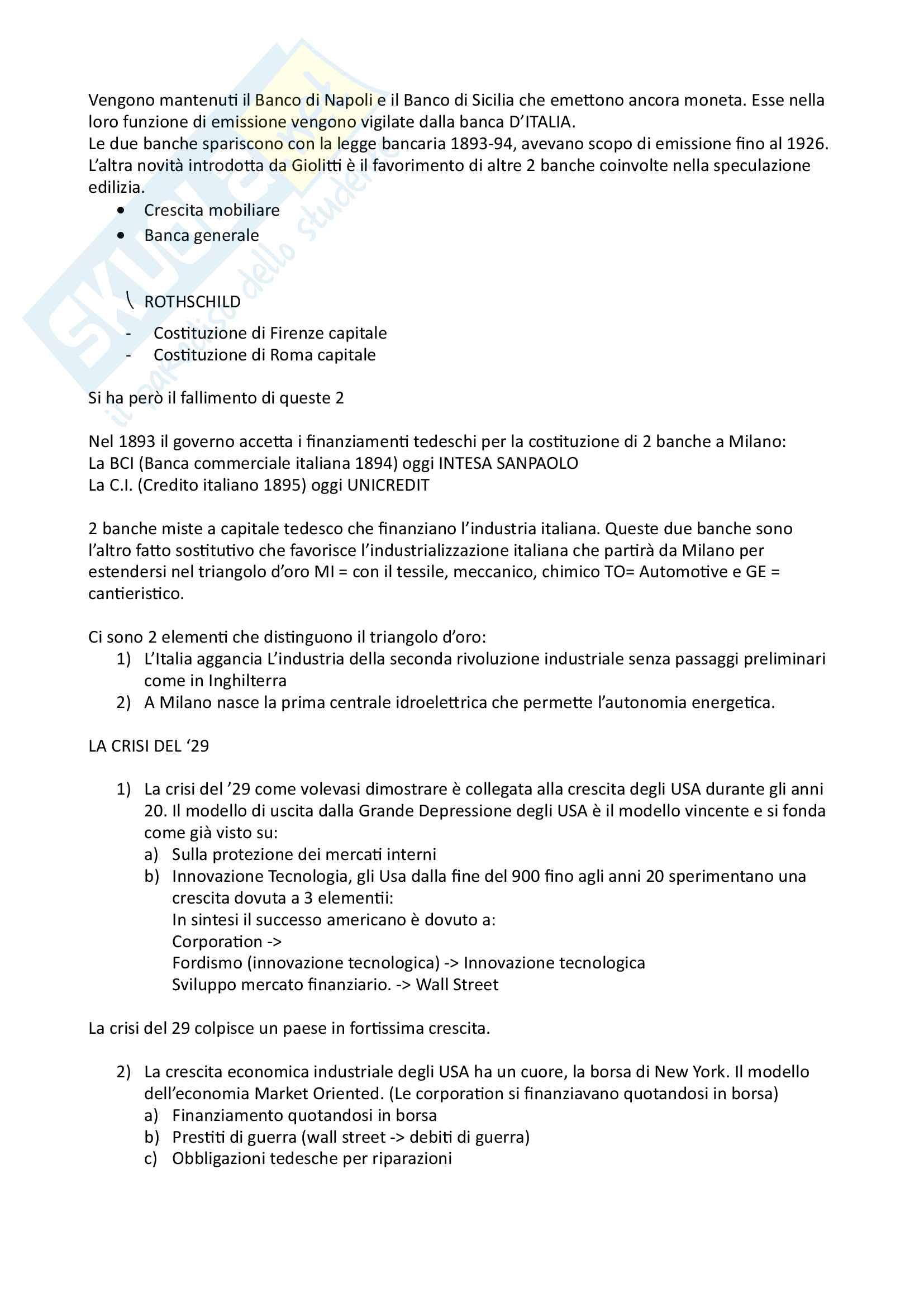 Storia Economica Locatelli Modulo B (Secondo Parziale) Pag. 11