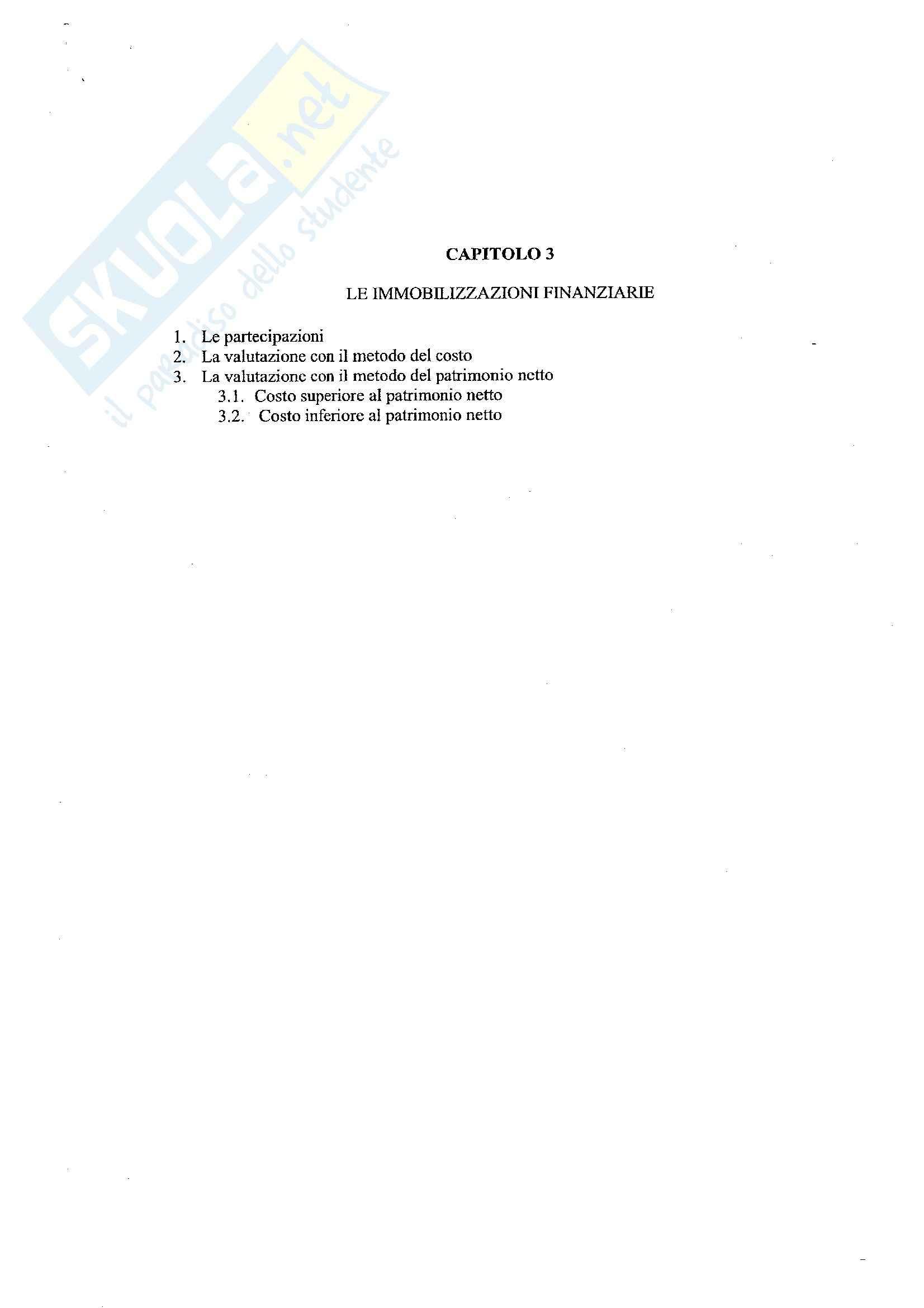 Economia aziendale II - Contabilità cap. 3 - Appunti