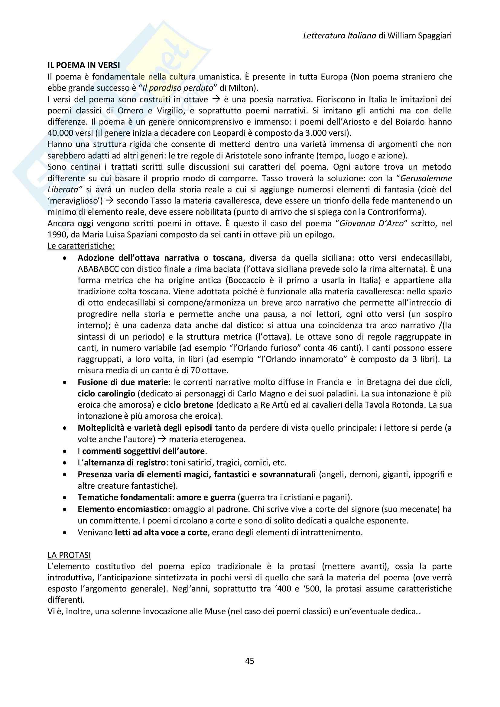 300-500: Appunti di Letteratura Italiana Pag. 46