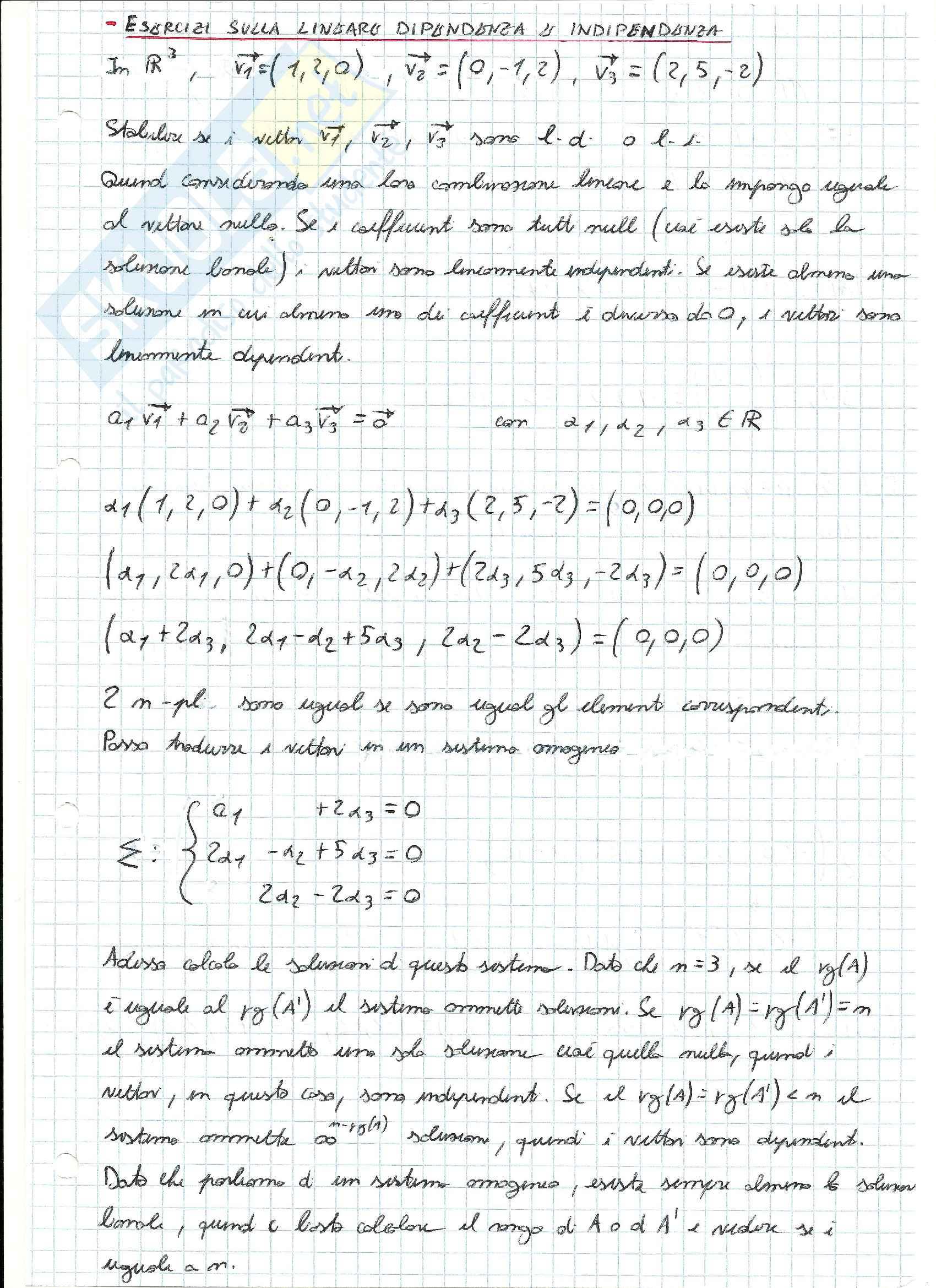 Esercizi svolti di Algebra delle matrici Pag. 16
