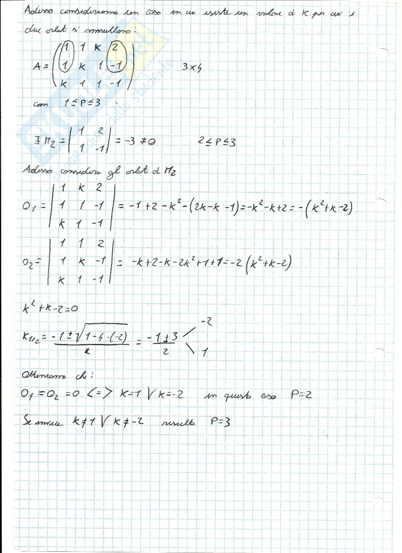 Esercizi svolti di Algebra delle matrici Pag. 2