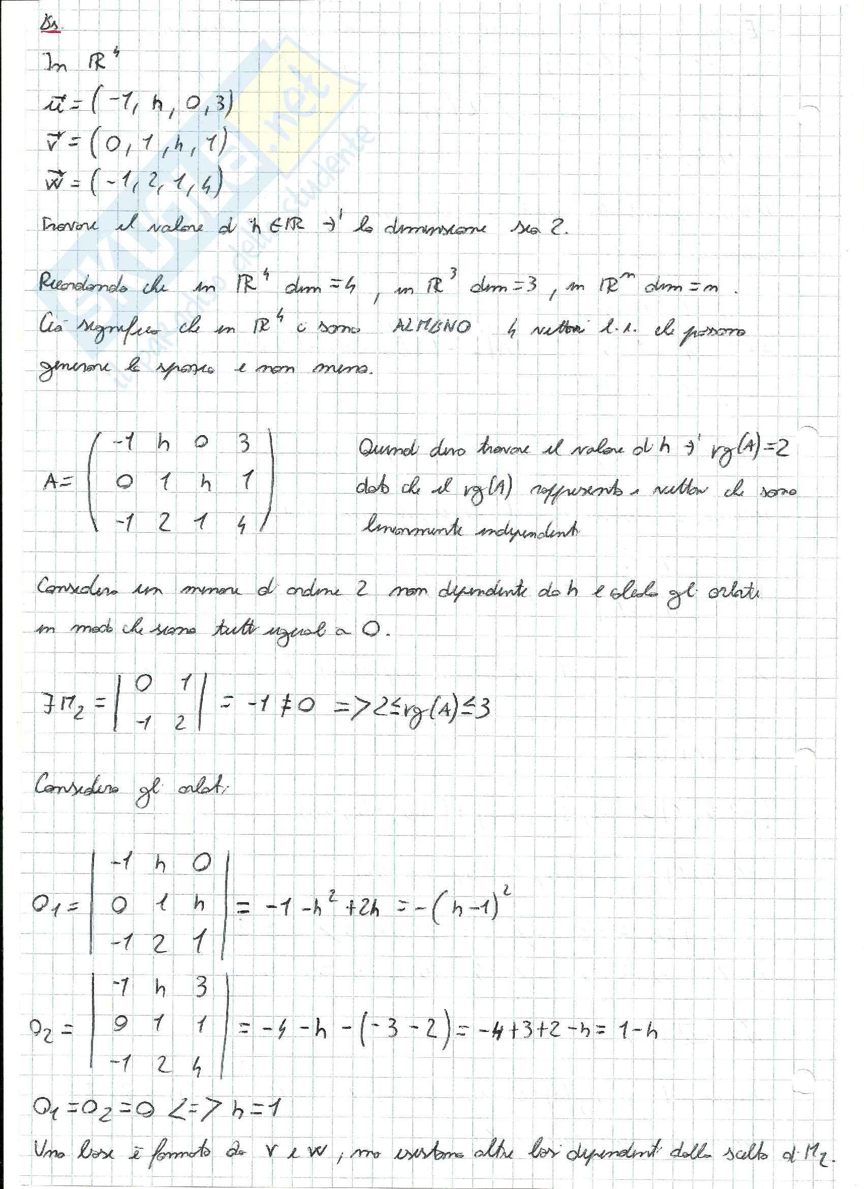 Esercizi svolti di Algebra delle matrici Pag. 26