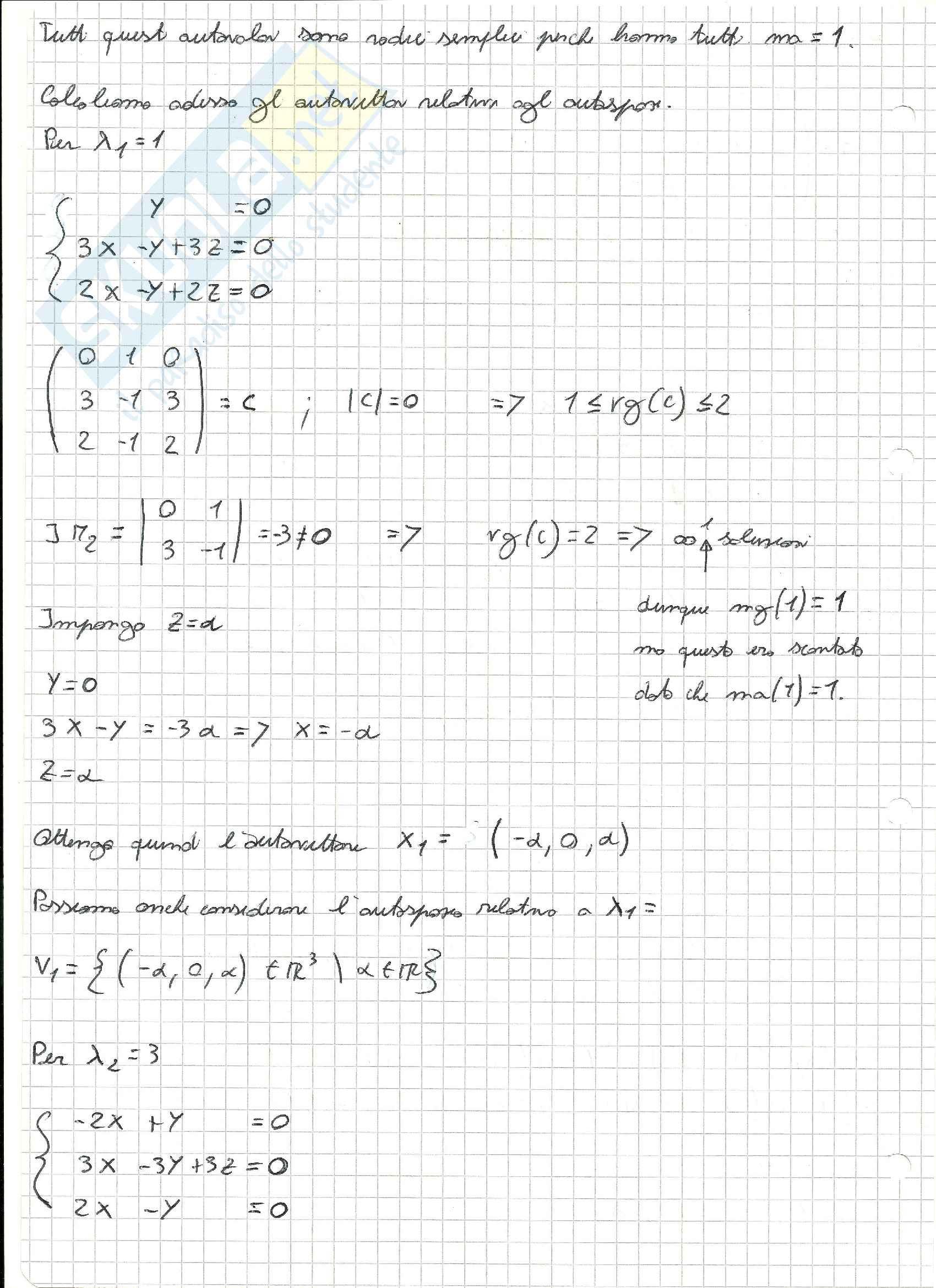Esercizi svolti di Algebra delle matrici Pag. 36