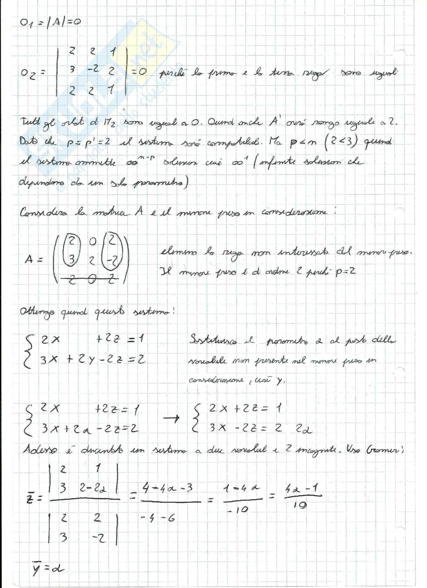 Esercizi svolti di Algebra delle matrici Pag. 6