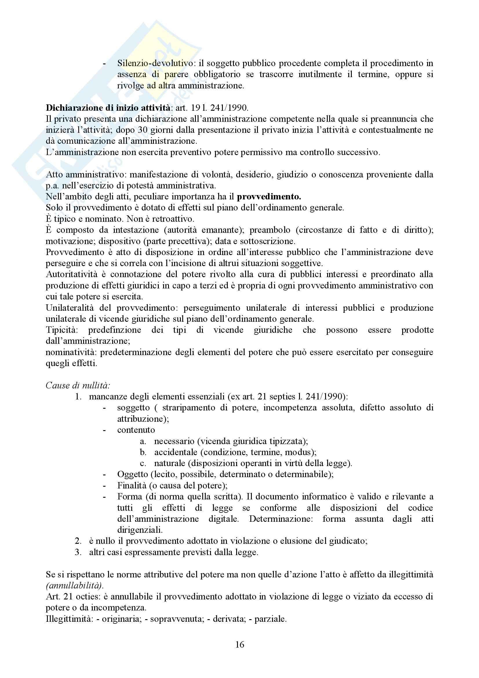 Manuale di diritto amministrativo, Casetta - Schemi Pag. 16