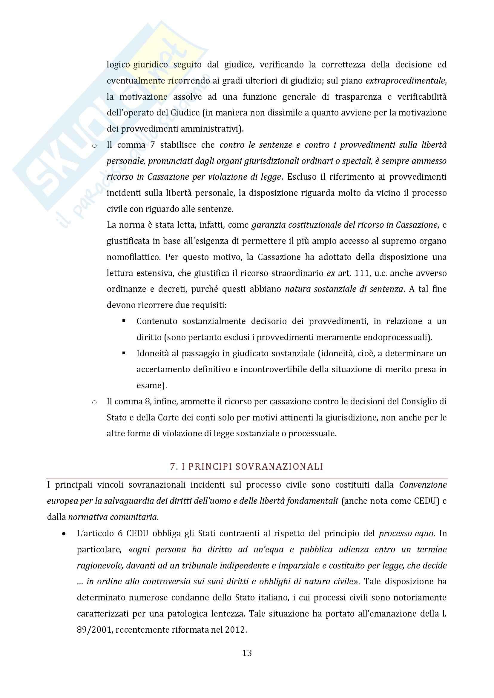 Riassunto esame Diritto Processuale Civile, prof. Vaccarella, libro consigliato Principi Generali, Luiso Pag. 11
