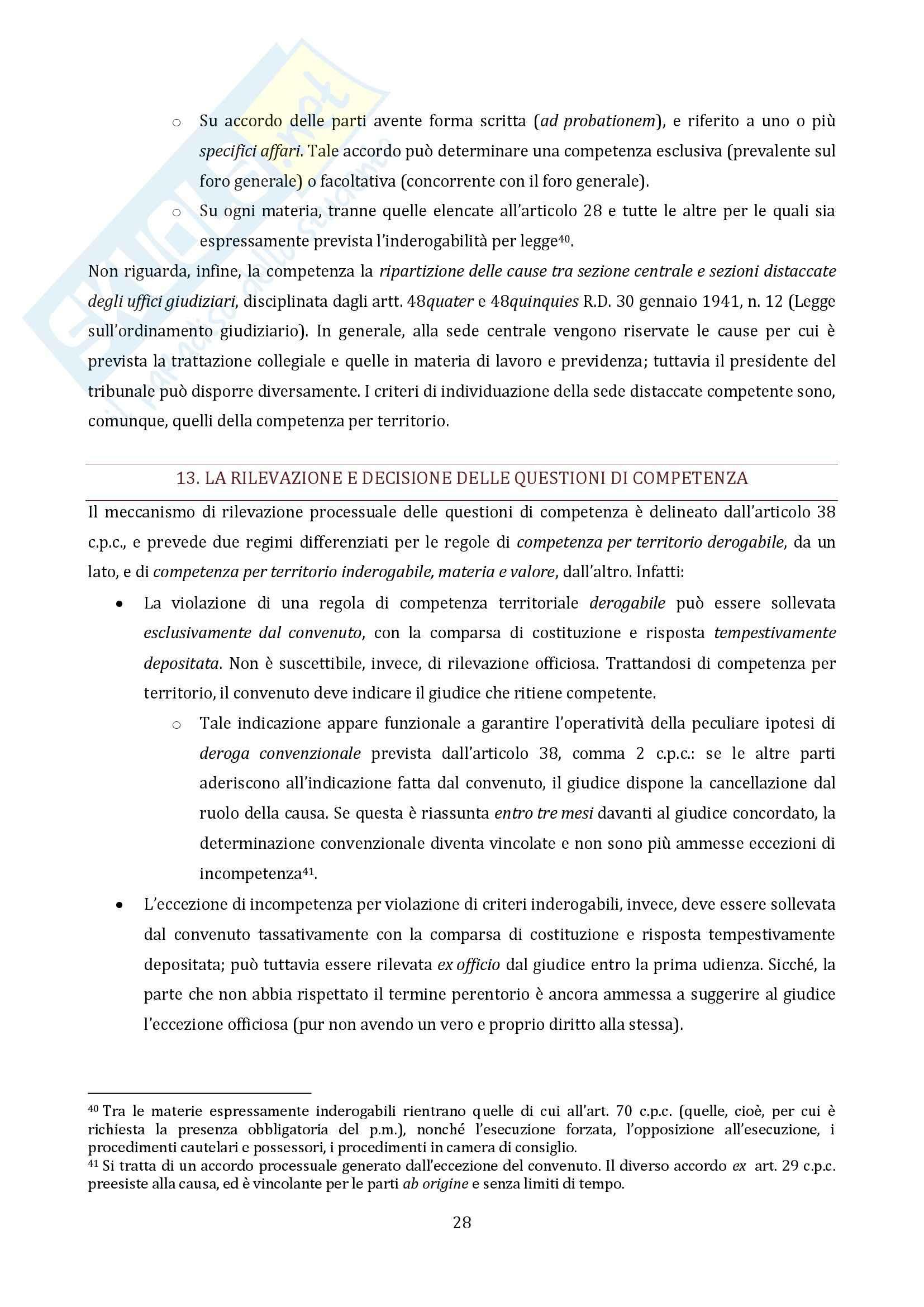 Riassunto esame Diritto Processuale Civile, prof. Vaccarella, libro consigliato Principi Generali, Luiso Pag. 26