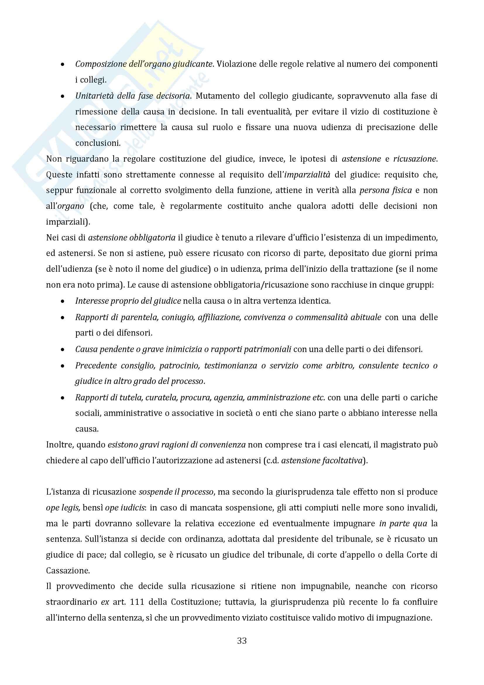 Riassunto esame Diritto Processuale Civile, prof. Vaccarella, libro consigliato Principi Generali, Luiso Pag. 31