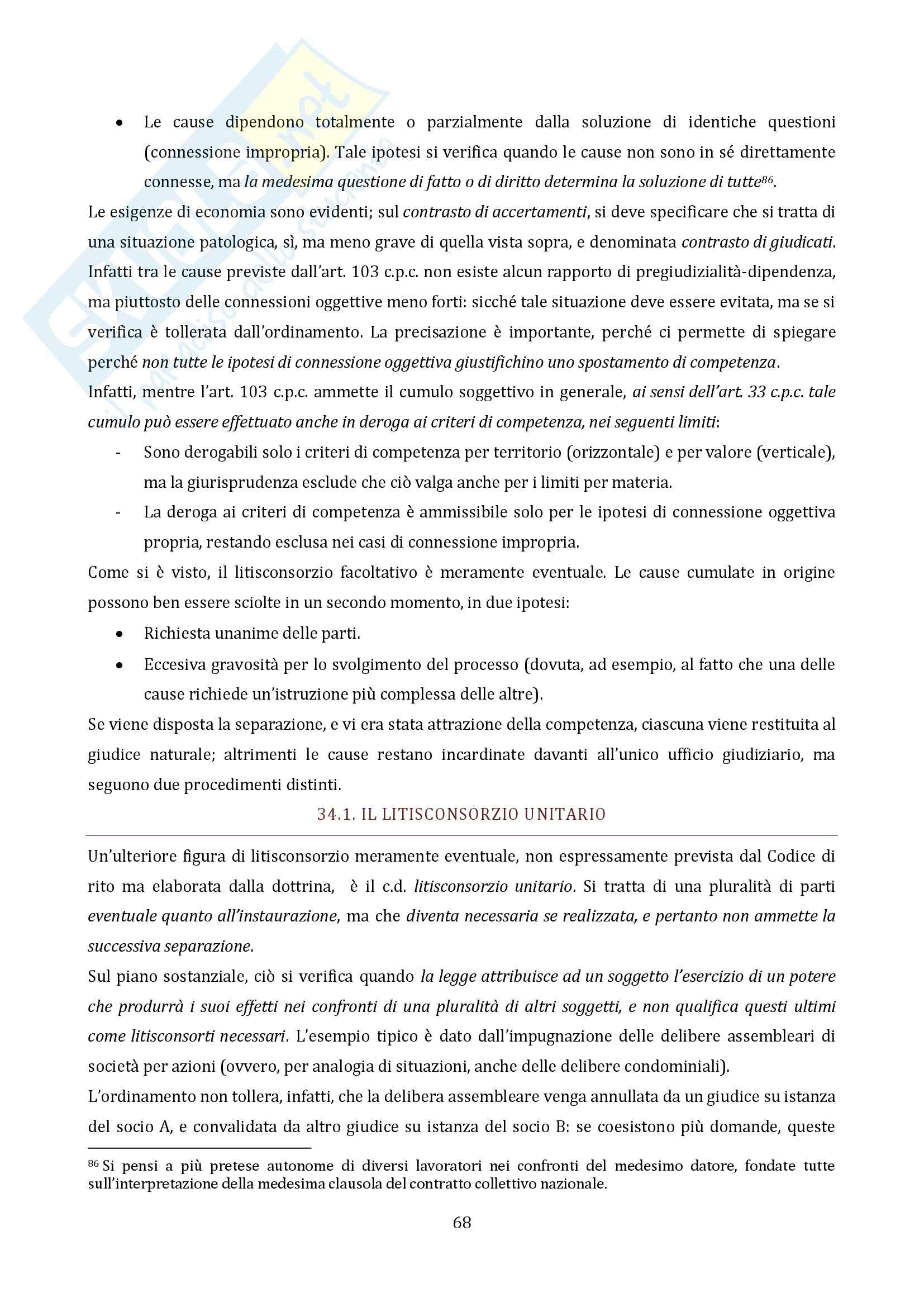 Riassunto esame Diritto Processuale Civile, prof. Vaccarella, libro consigliato Principi Generali, Luiso Pag. 66