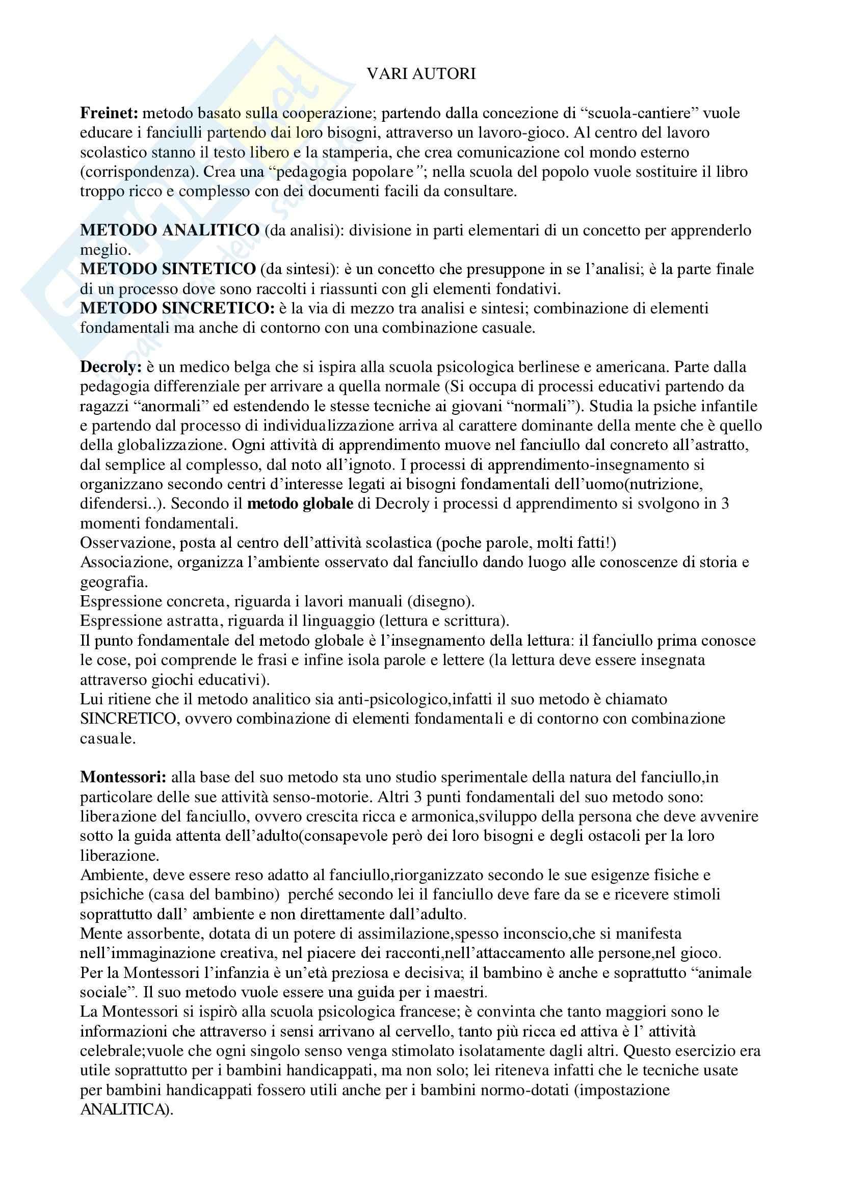 Pedagogie del Novecento Pag. 2