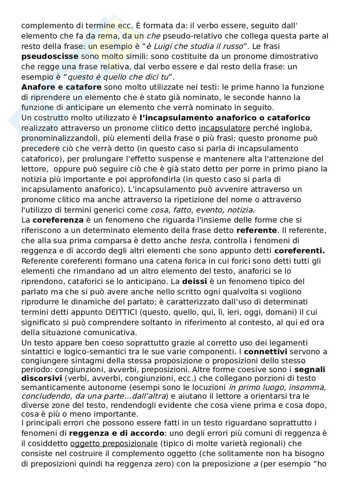Riassunto esame sociolinguistica, prof. Rossi, libro consigliato L'italiano scritto: usi, regole e dubbi, Rossi, Ruggiano Pag. 6
