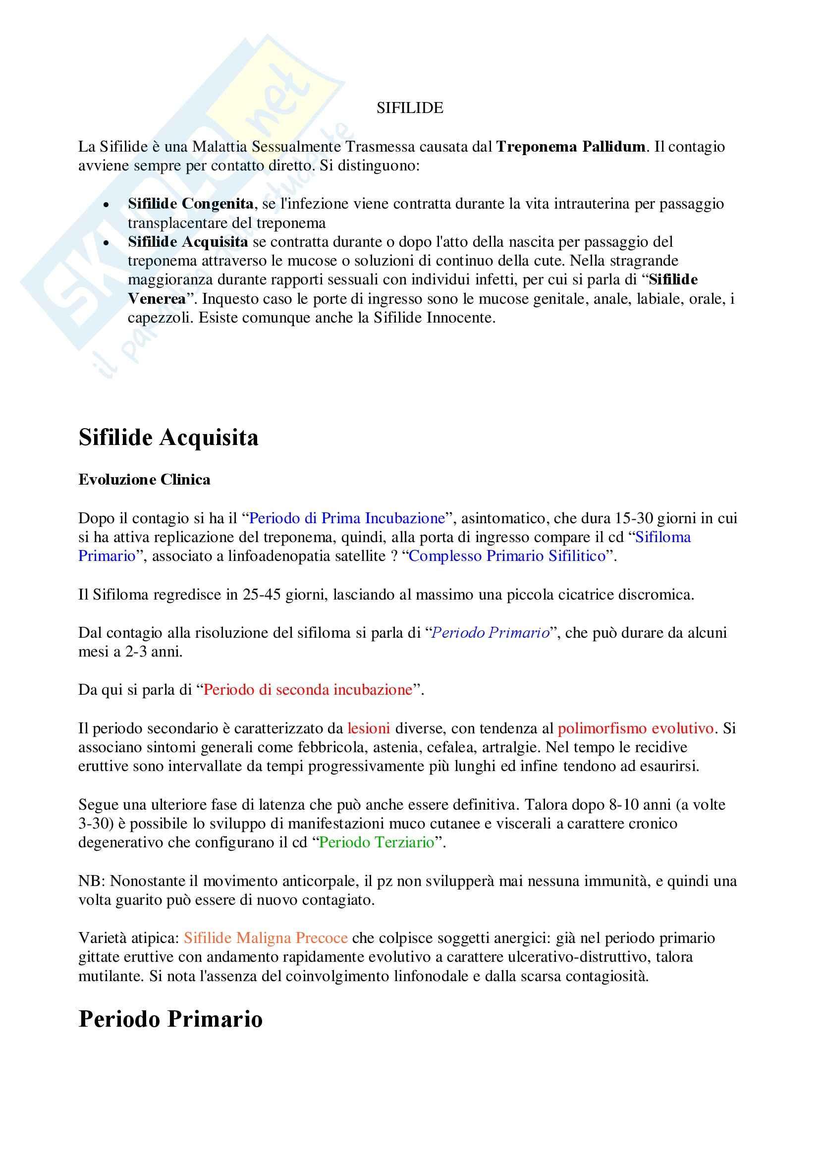 Malattie infettive – Sifilide