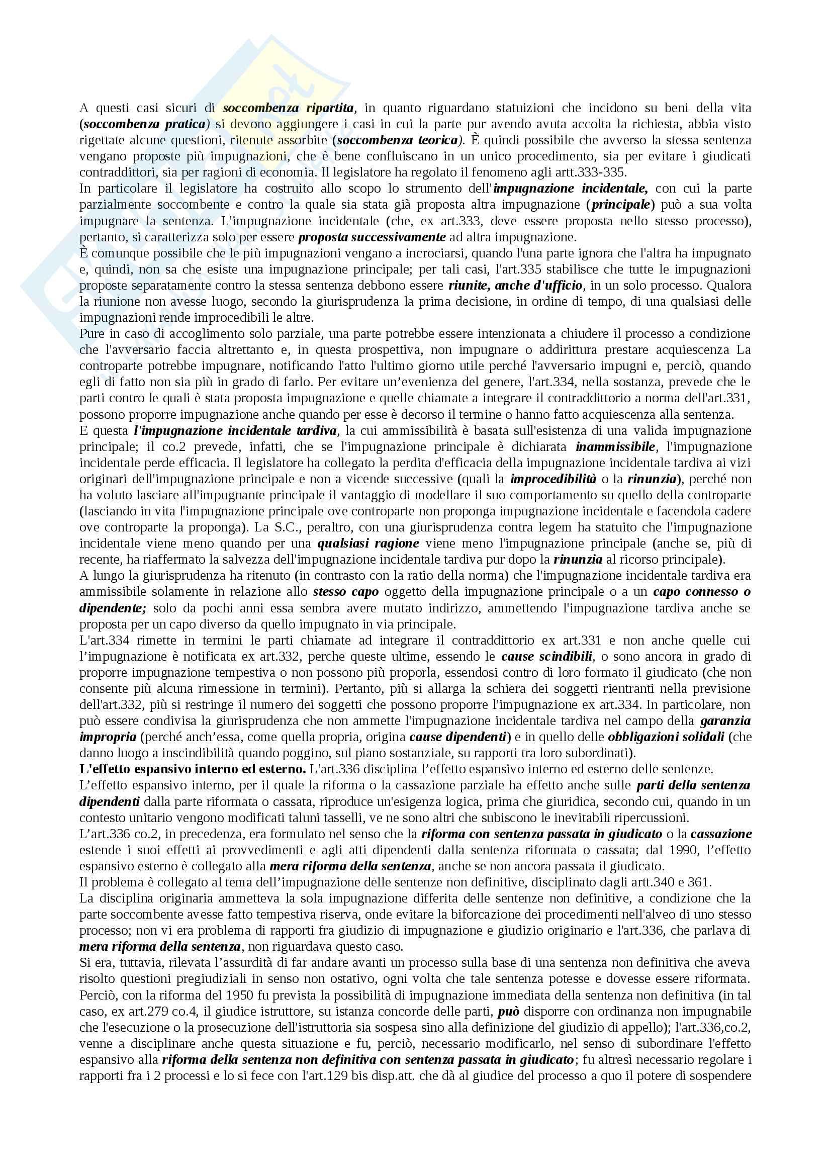 Riassunto esame procedura civile, docente Auletta, libro consigliato Diritto processuale civile 2, Verde Pag. 41