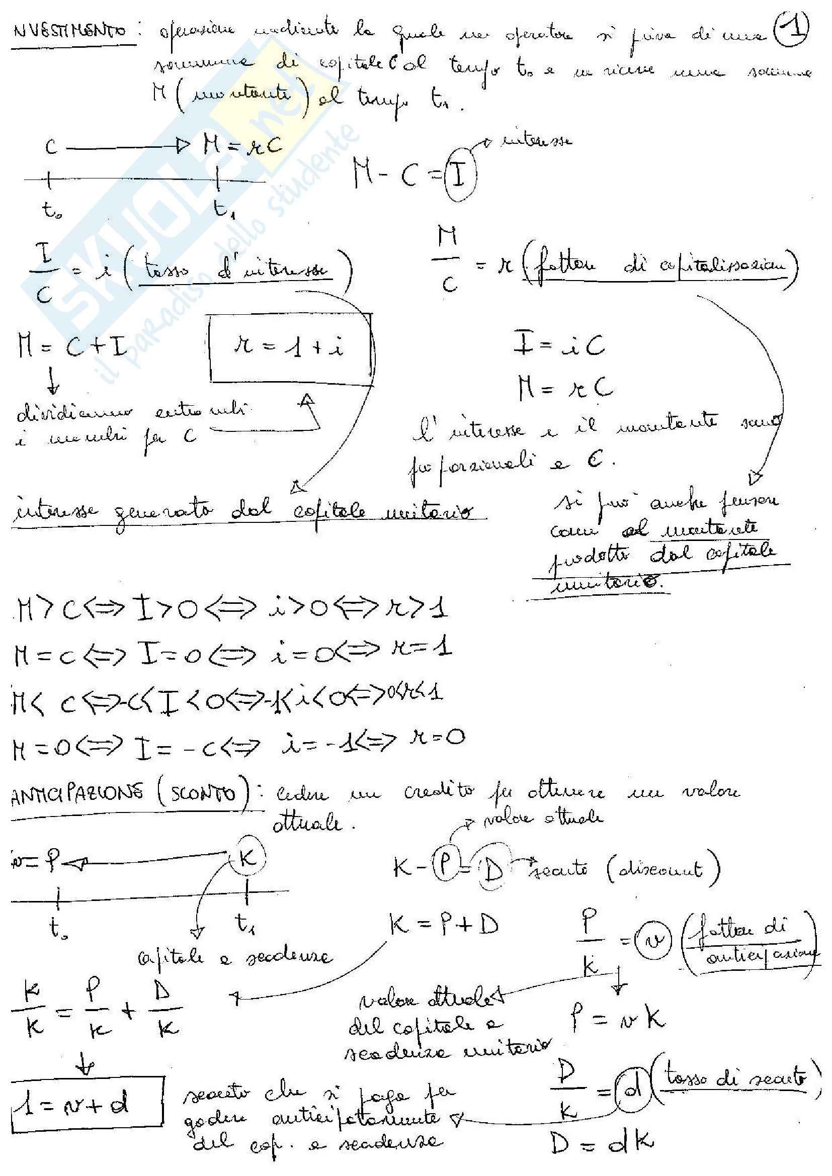Matematica finanziaria - Parte I