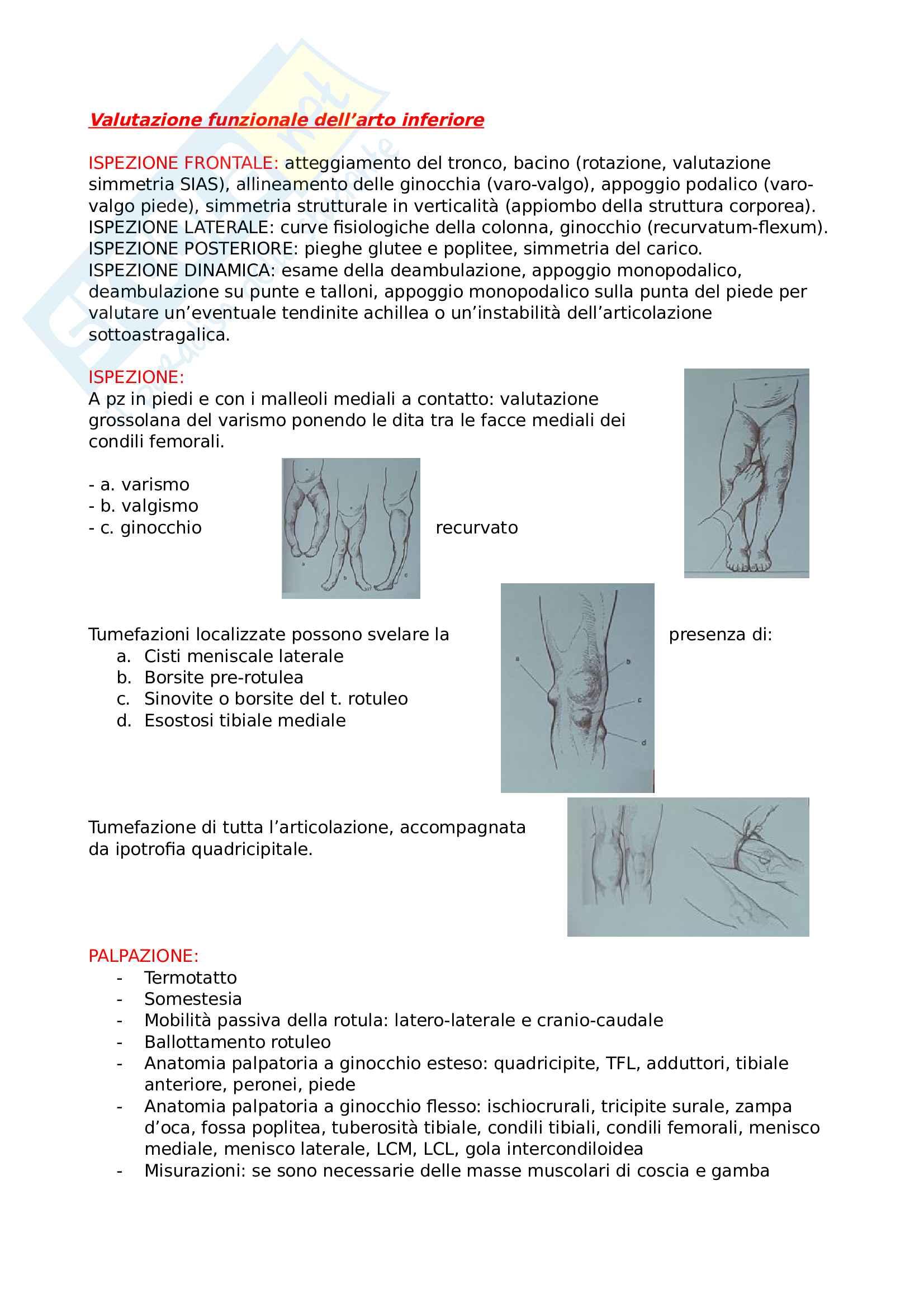 Valutazione funzionale dell'arto inferiore
