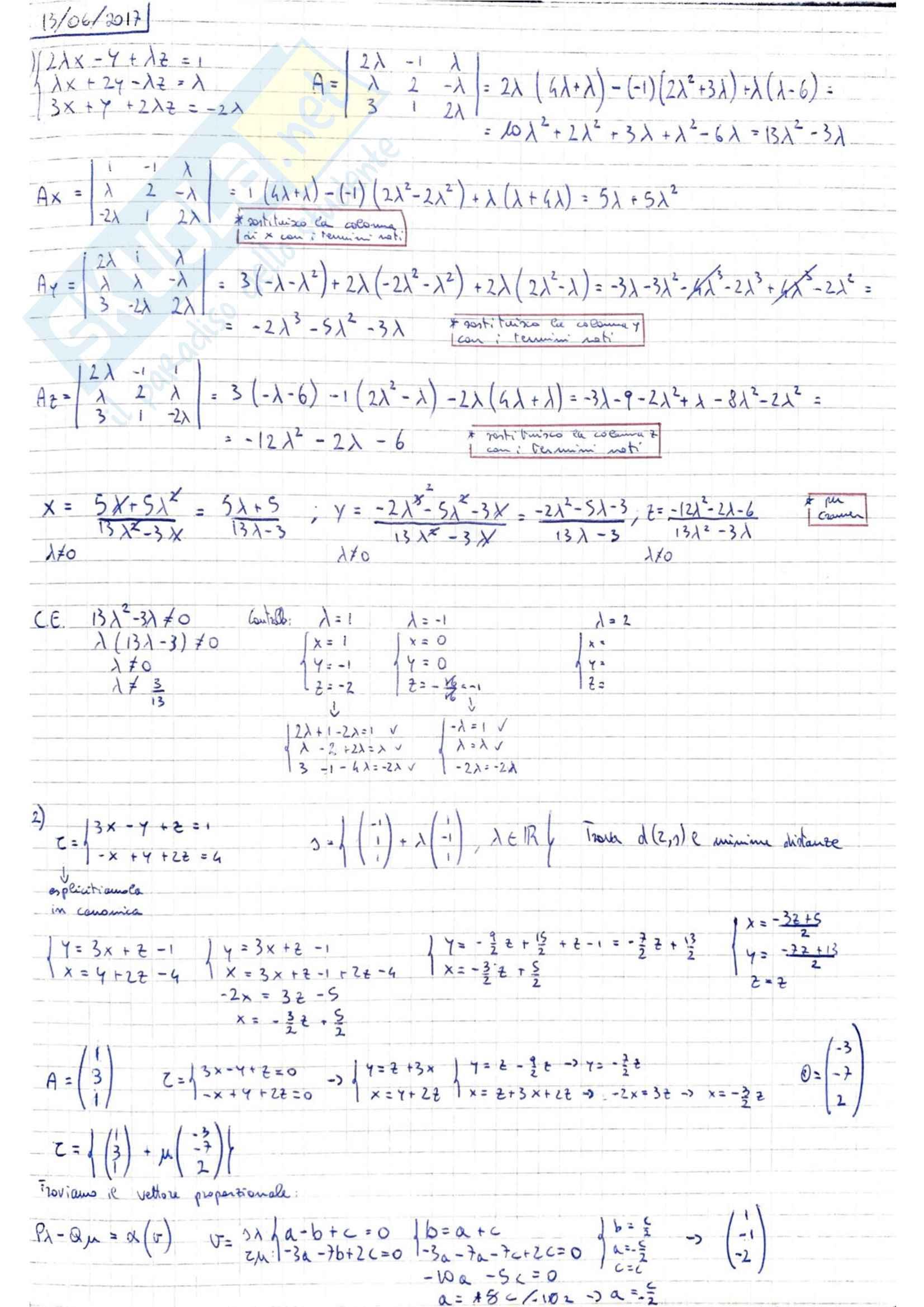 Analisi 2 Esercizi
