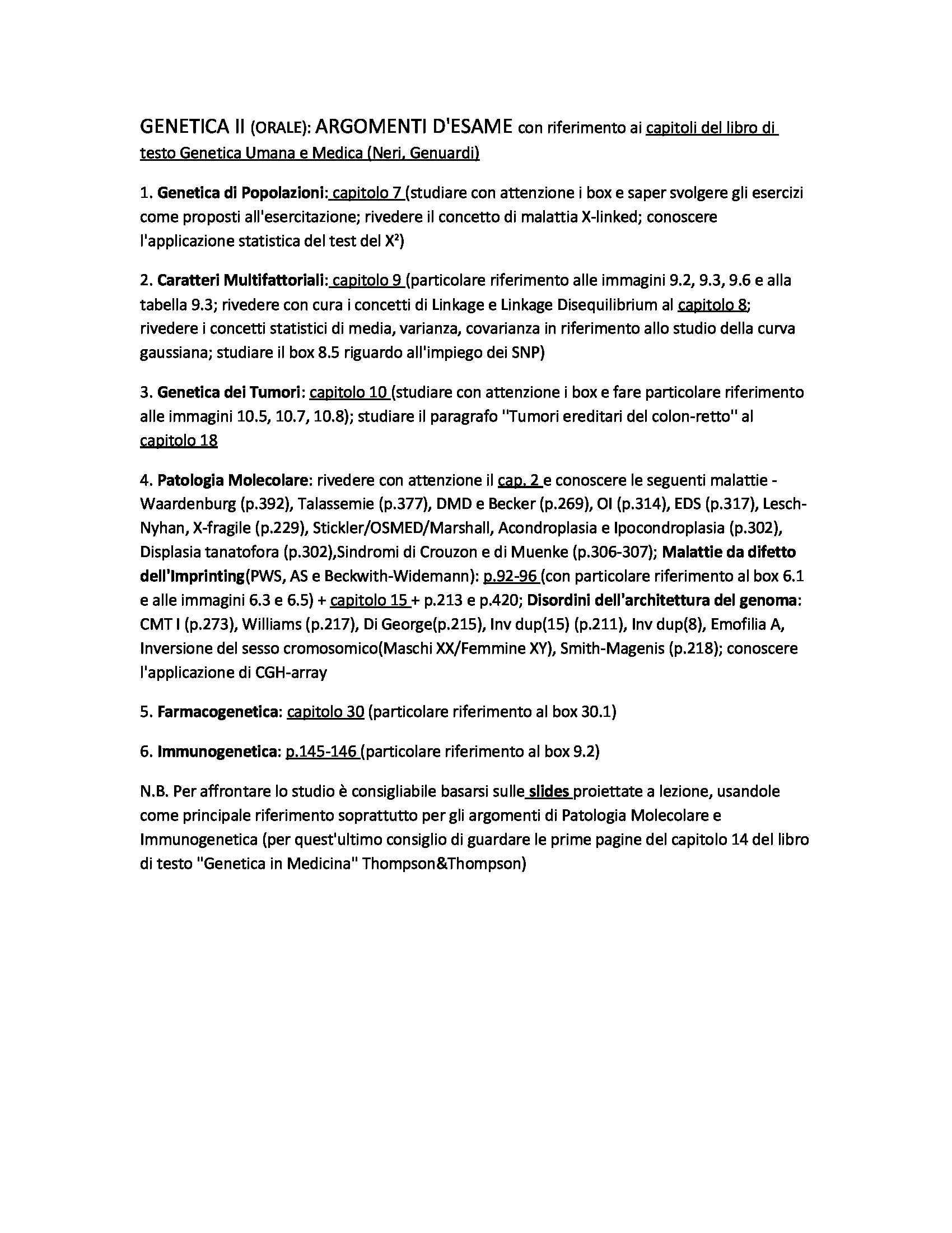 Appunti di Genetica II esame