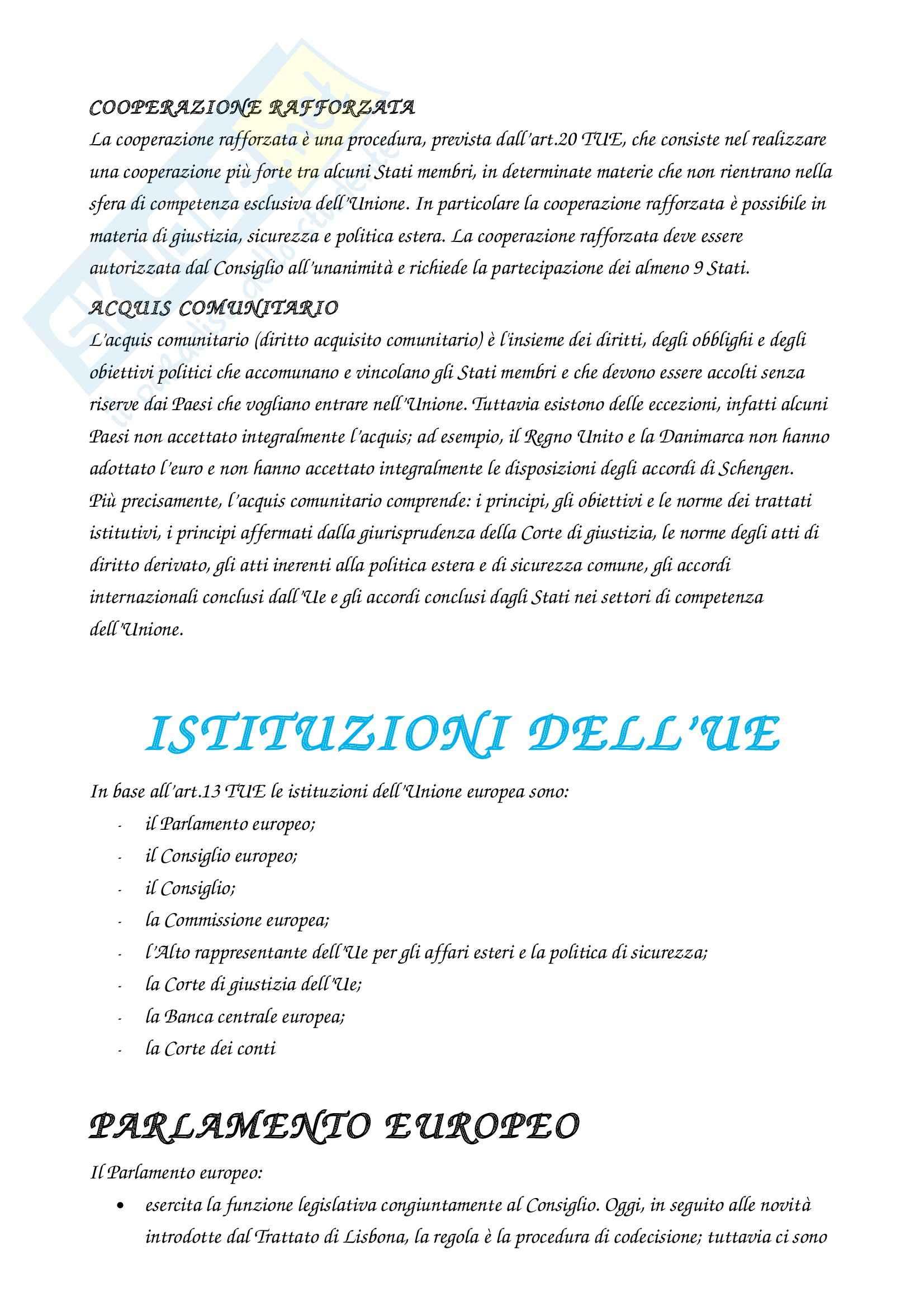 Riassunto esame Diritto, prof. Rossi, libro consigliato Diritto dell'Unione Europea, Tesauro Pag. 2
