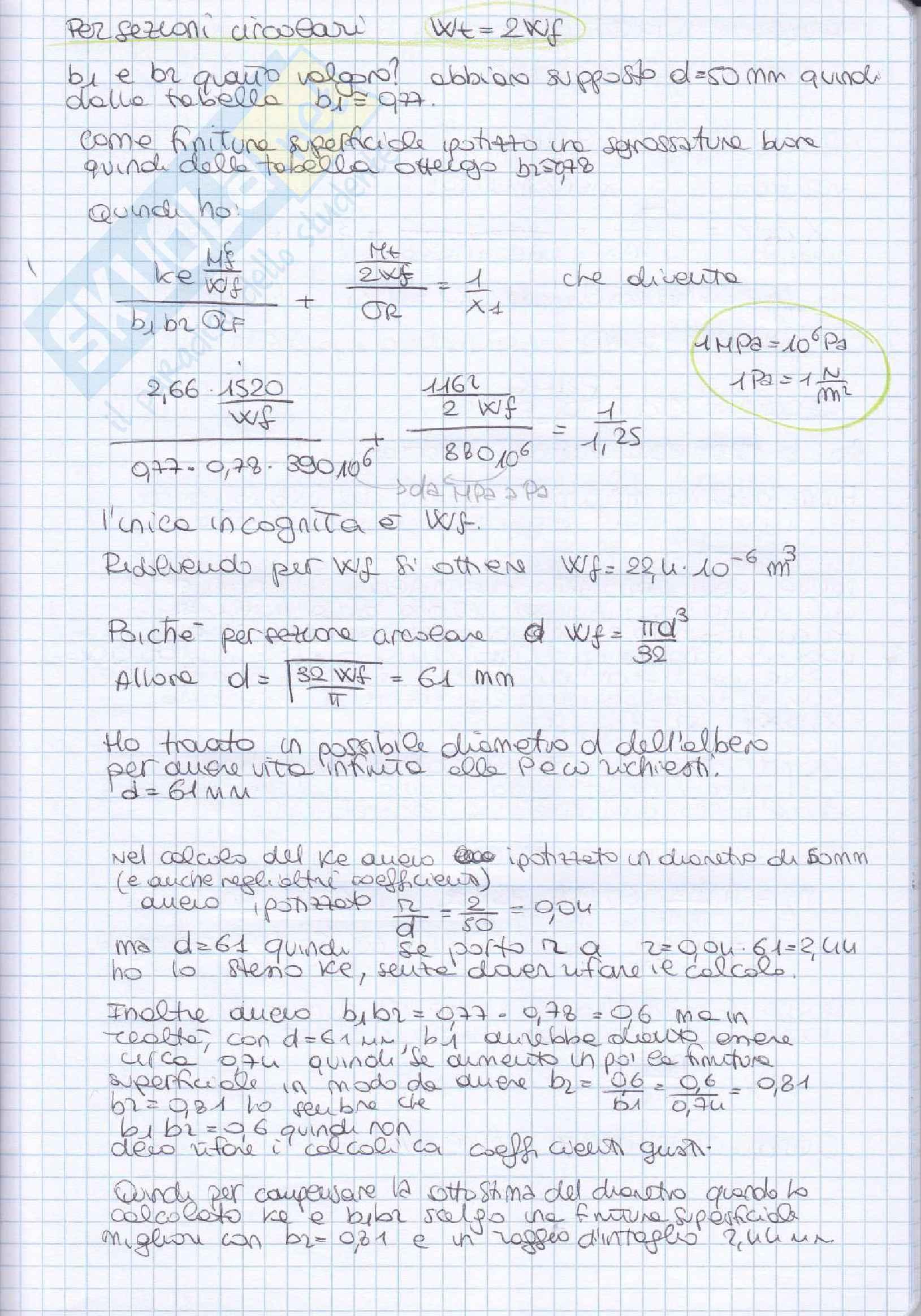 Elementi costruttivi delle macchine - Esercizi esame svolti Pag. 11