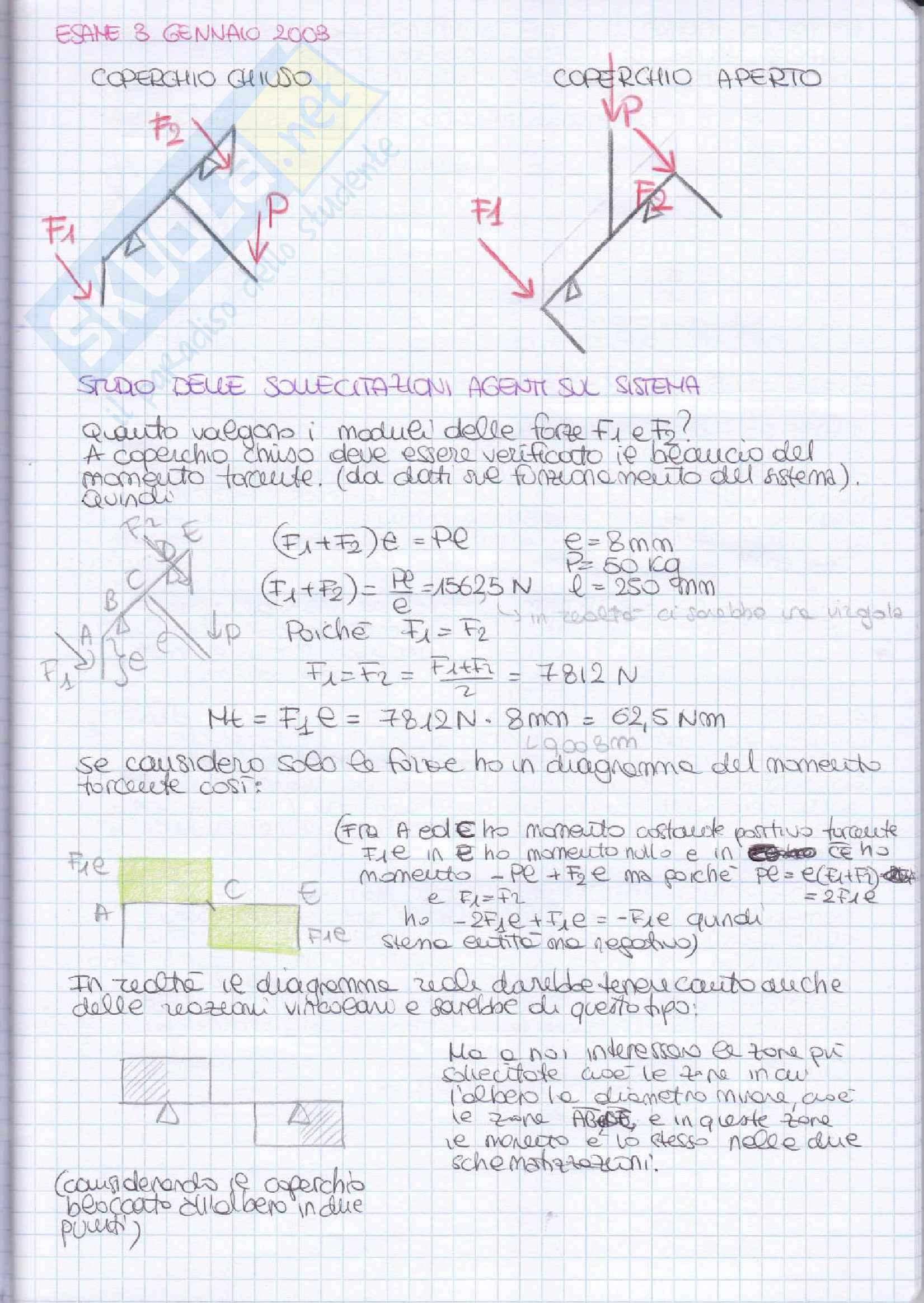 Elementi costruttivi delle macchine - Esercizi esame svolti Pag. 16
