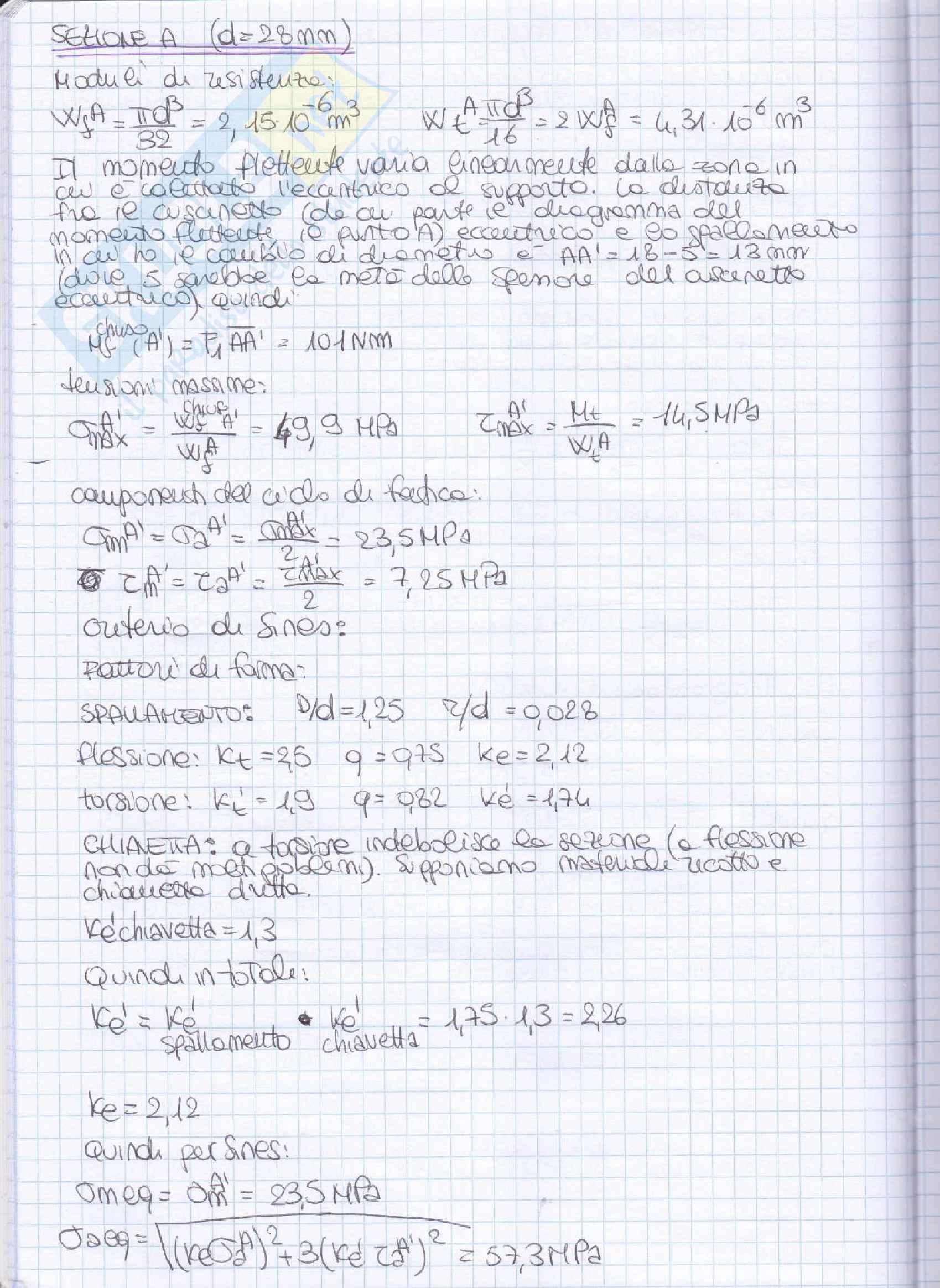 Elementi costruttivi delle macchine - Esercizi esame svolti Pag. 21