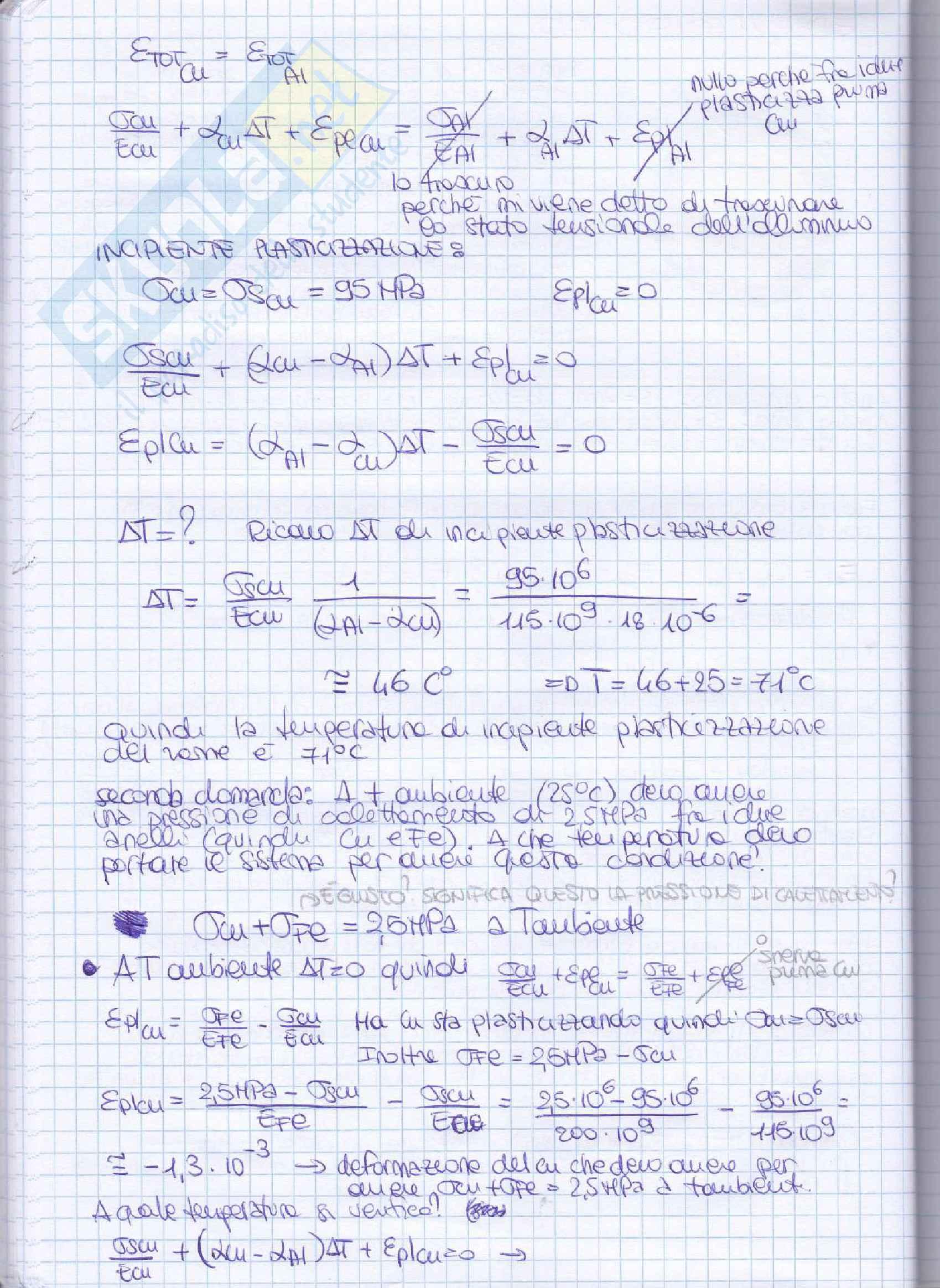 Elementi costruttivi delle macchine - Esercizi esame svolti Pag. 46