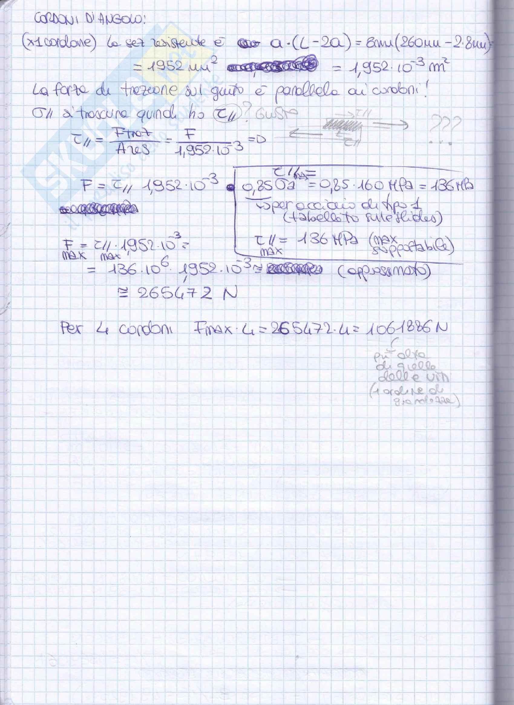 Elementi costruttivi delle macchine - Esercizi esame svolti Pag. 56