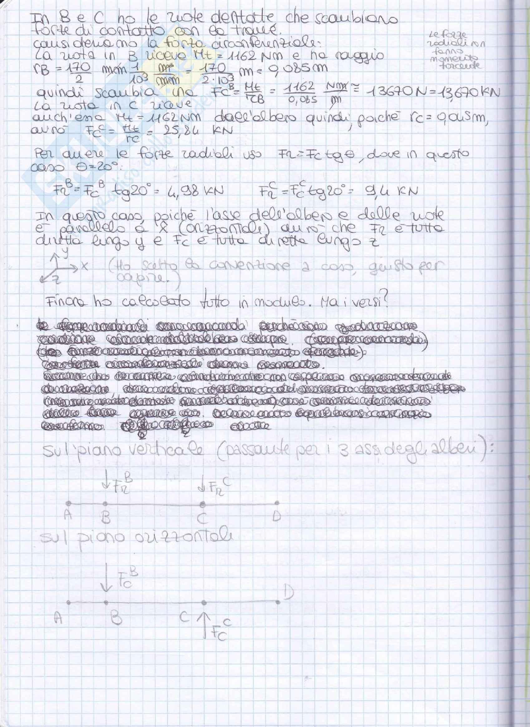 Elementi costruttivi delle macchine - Esercizi esame svolti Pag. 6
