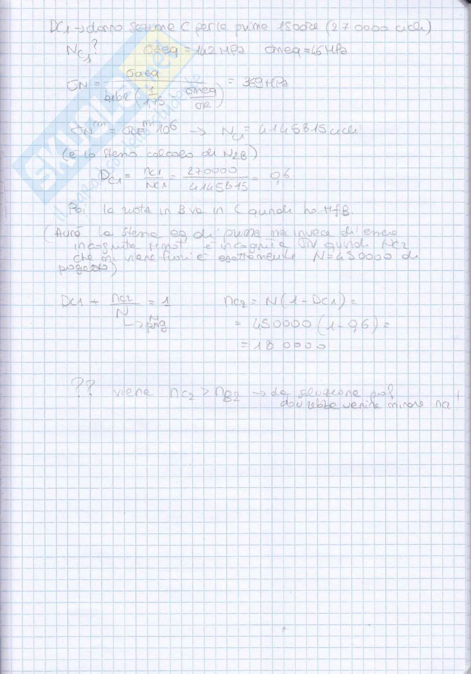 Elementi costruttivi delle macchine - Esercizi esame svolti Pag. 61