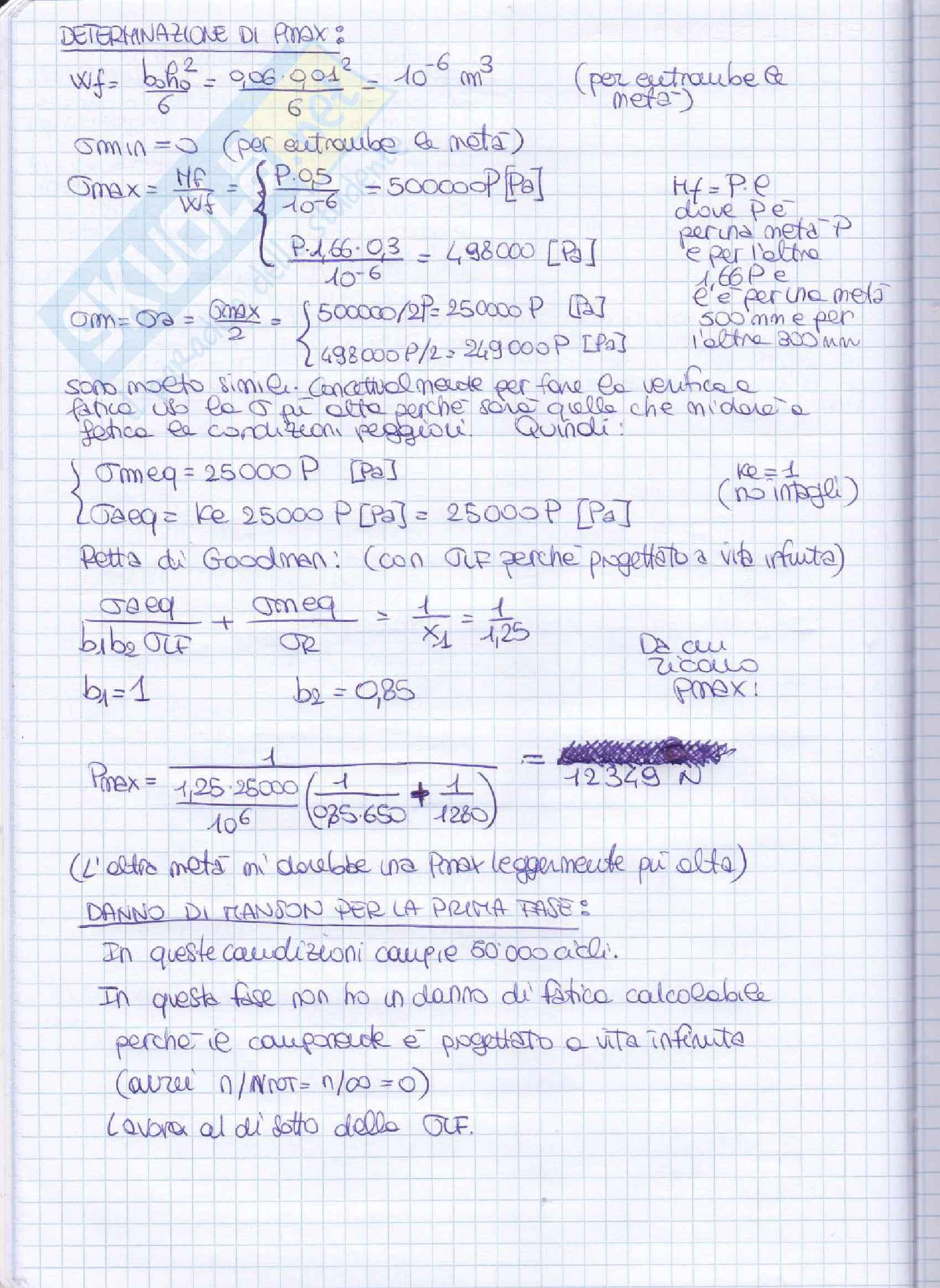 Elementi costruttivi delle macchine - Esercizi esame svolti Pag. 71