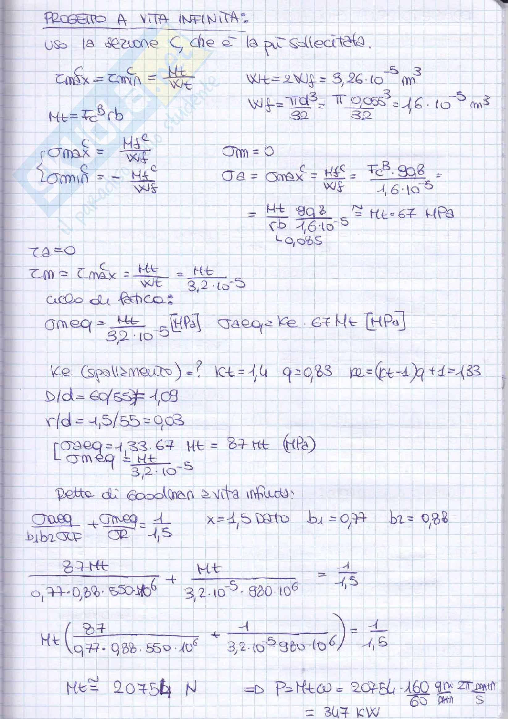 Elementi costruttivi delle macchine - Esercizi esame svolti Pag. 81