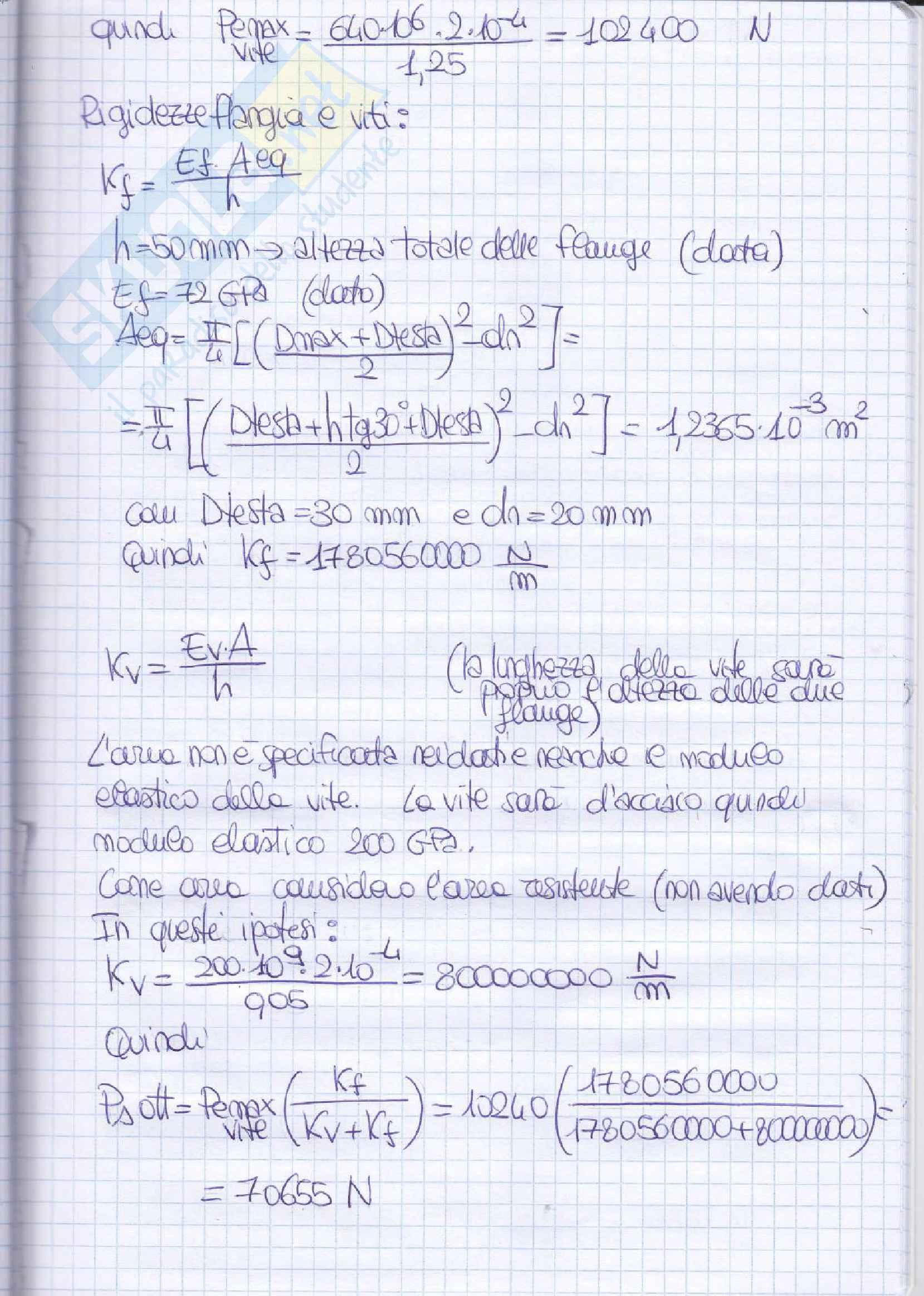 Elementi costruttivi delle macchine - Esercizi esame svolti Pag. 96