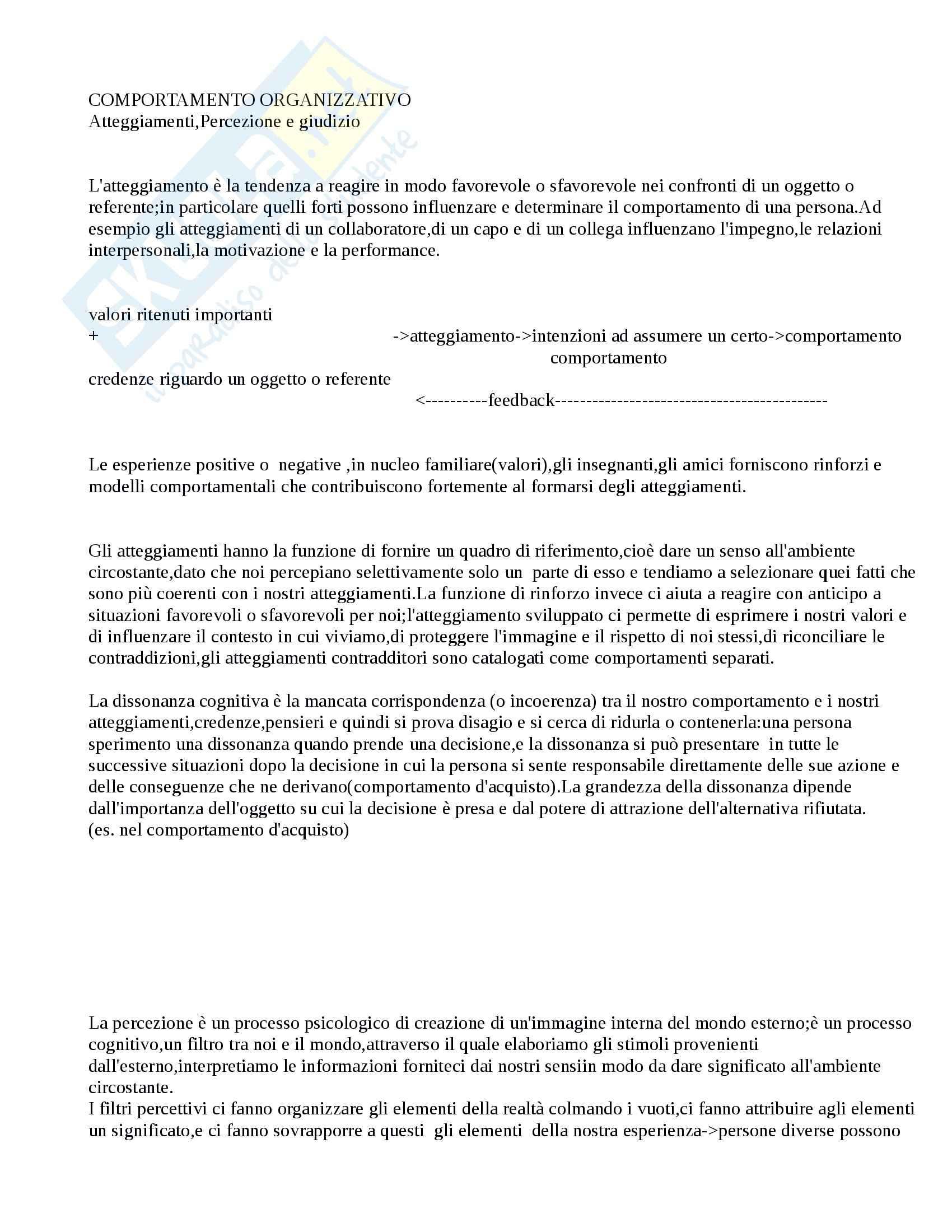 Organizzazione delle Risorse Umane - Appunti