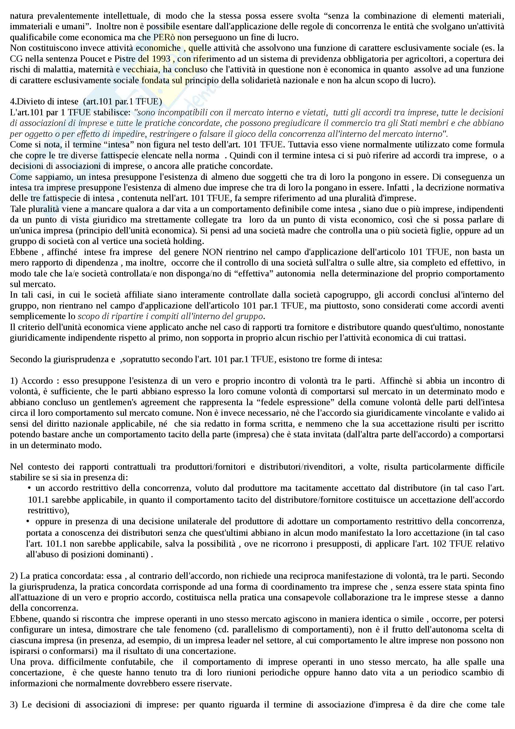Riassunto esame Diritto dell'Unione Europea, prof. Daniele, libro consigliato Diritto del Mercato Unico Europeo di Daniele Pag. 21