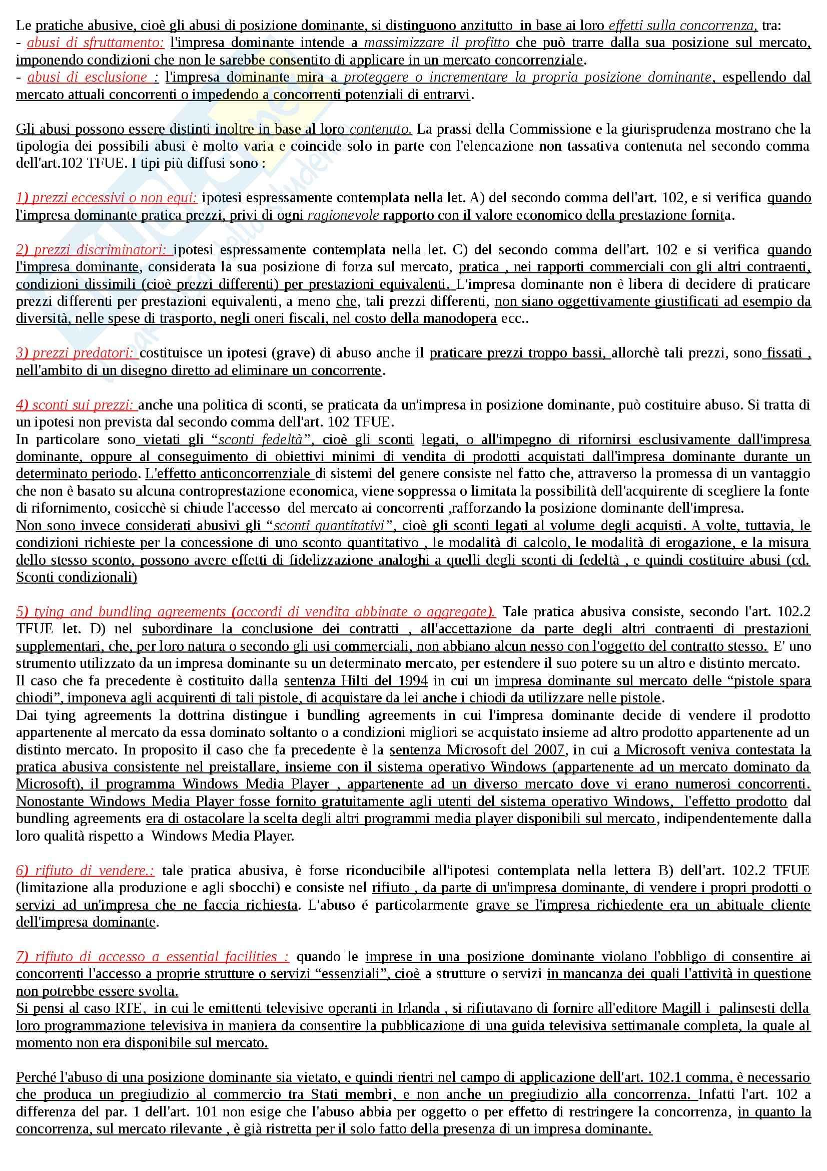 Riassunto esame Diritto dell'Unione Europea, prof. Daniele, libro consigliato Diritto del Mercato Unico Europeo di Daniele Pag. 26