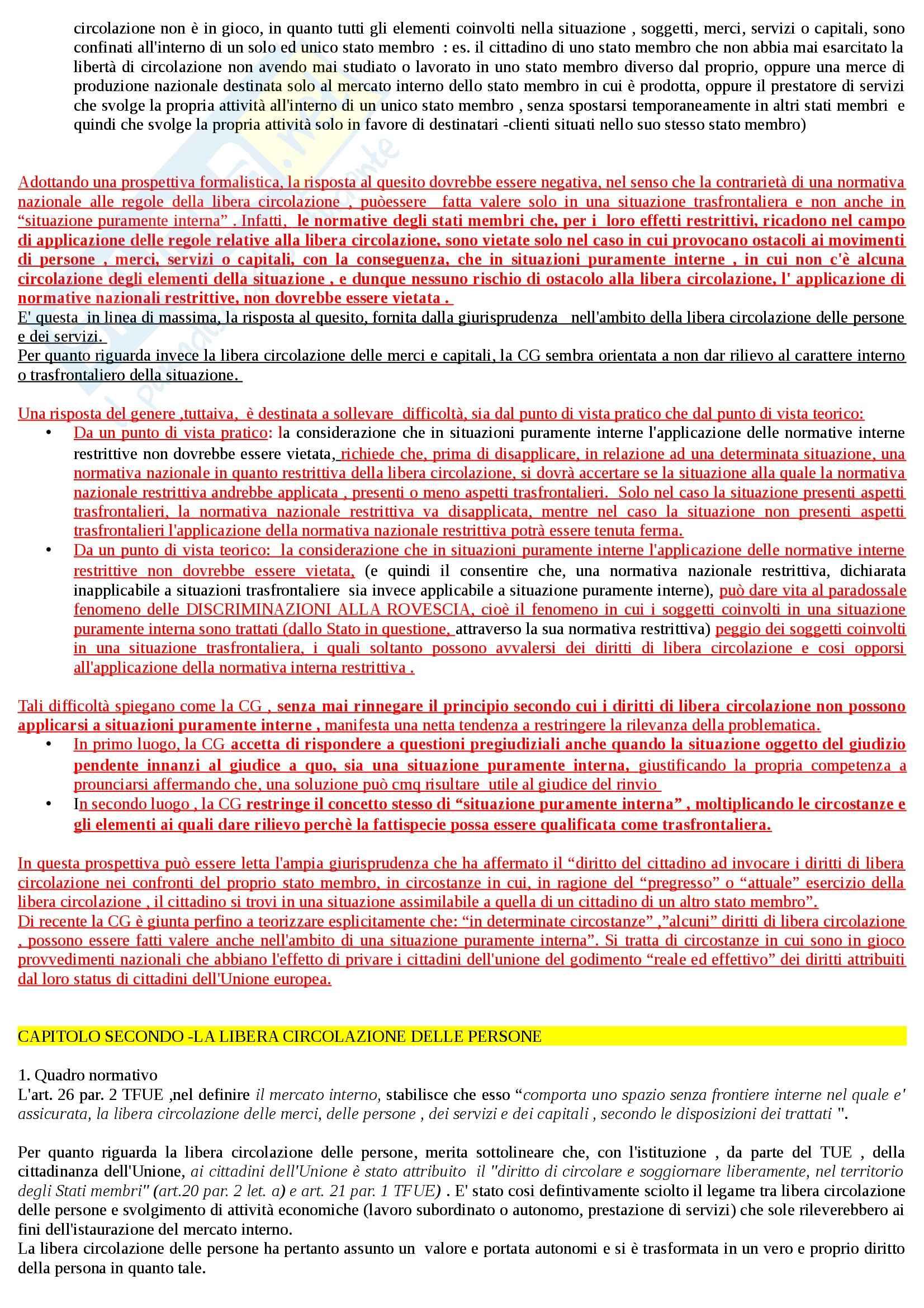 Riassunto esame Diritto dell'Unione Europea, prof. Daniele, libro consigliato Diritto del Mercato Unico Europeo di Daniele Pag. 6