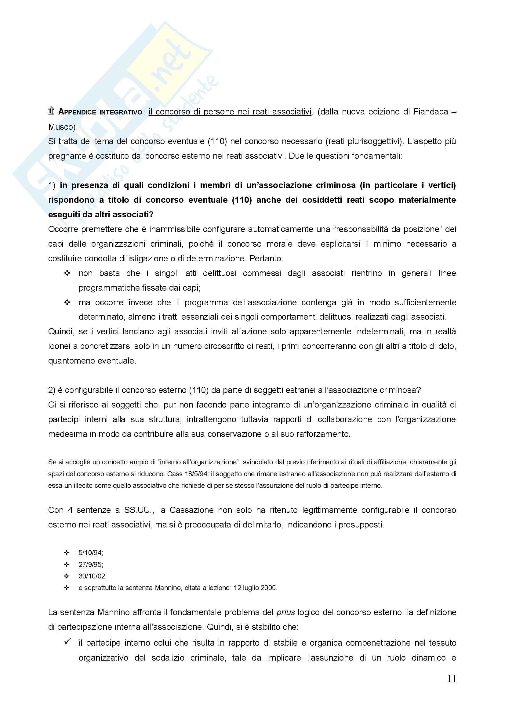 Diritto penale - concorso di persone nel reato Pag. 11