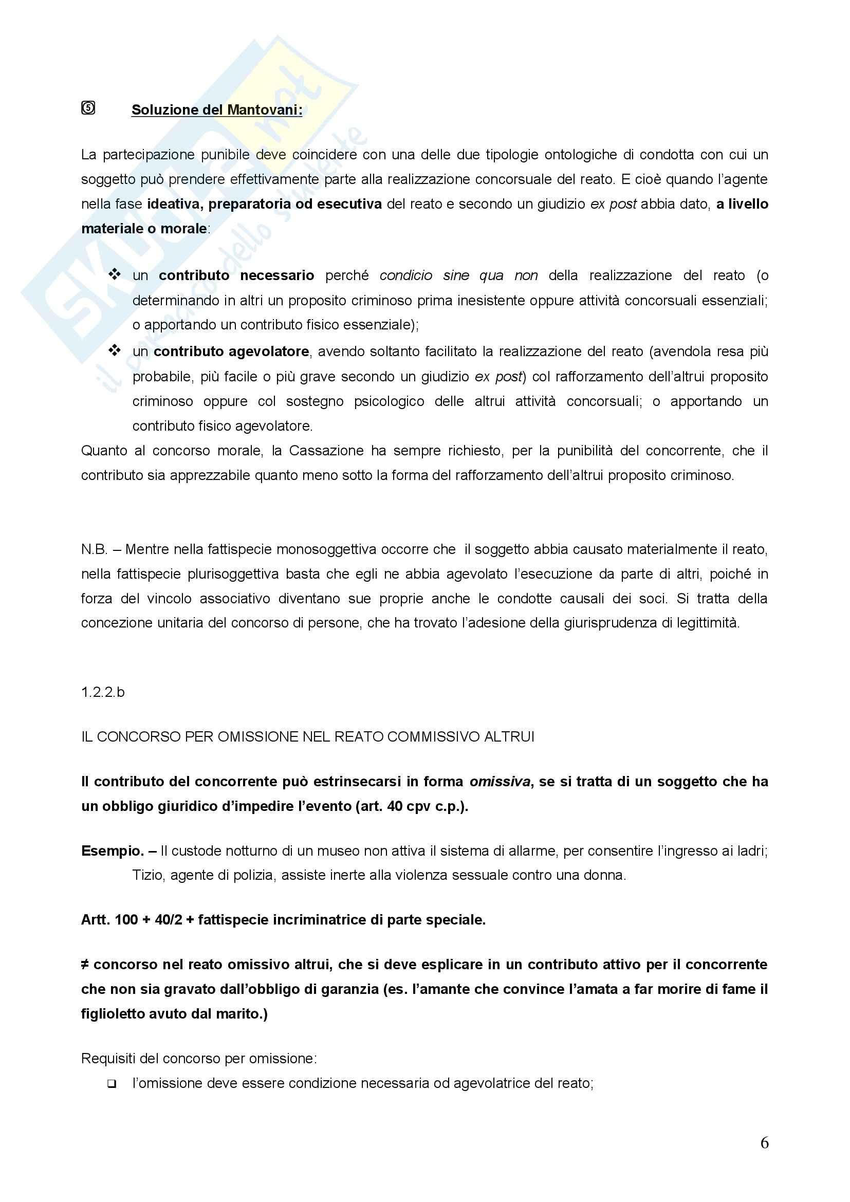 Diritto penale - concorso di persone nel reato Pag. 6